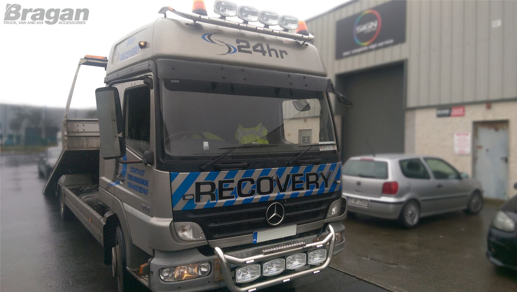To fit mercedes atego polished stainless steel front roof light bar item specifics aloadofball Gallery