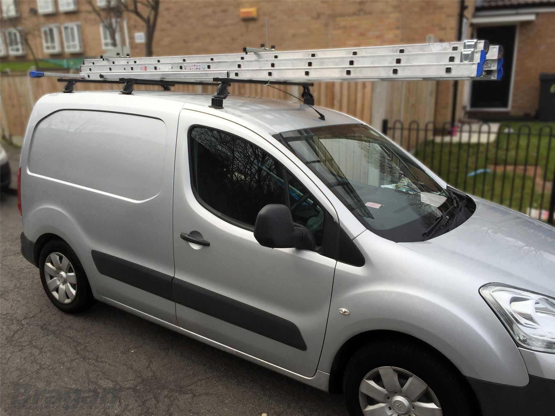 To Fit 2008 Citroen Berlingo Solid Roof Rack Bars Rails 3