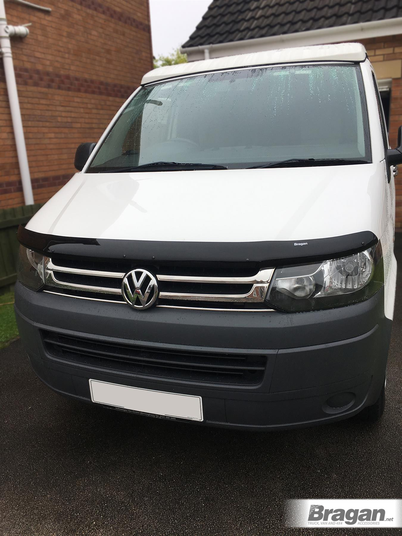 To Fit 2010-2015 Volkswagen Transporter T5 Smoked Acrylic Bonnet Guard Shield