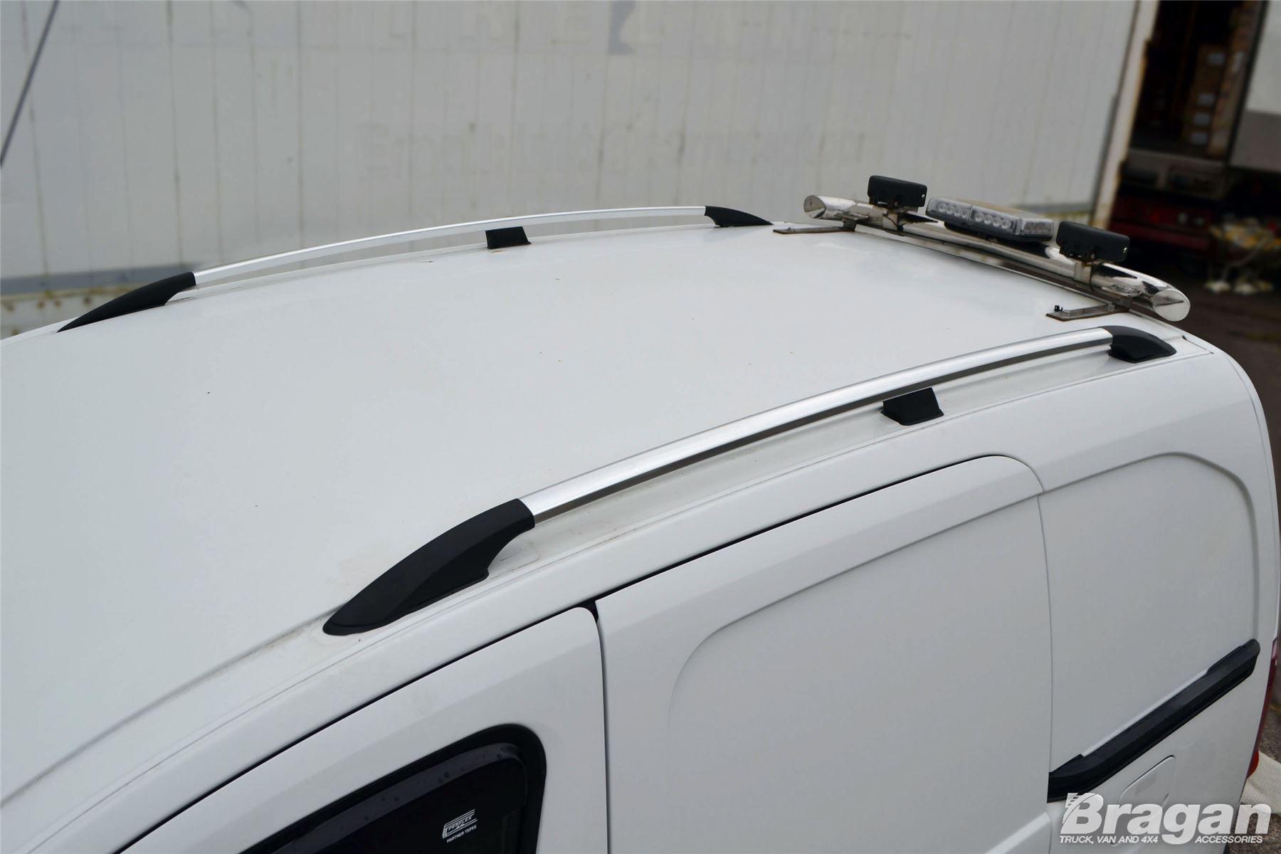 To Fit 2012-2019 Opel Vauxhall Combo D LWB Black Aluminium Roof Rails Rack Bar