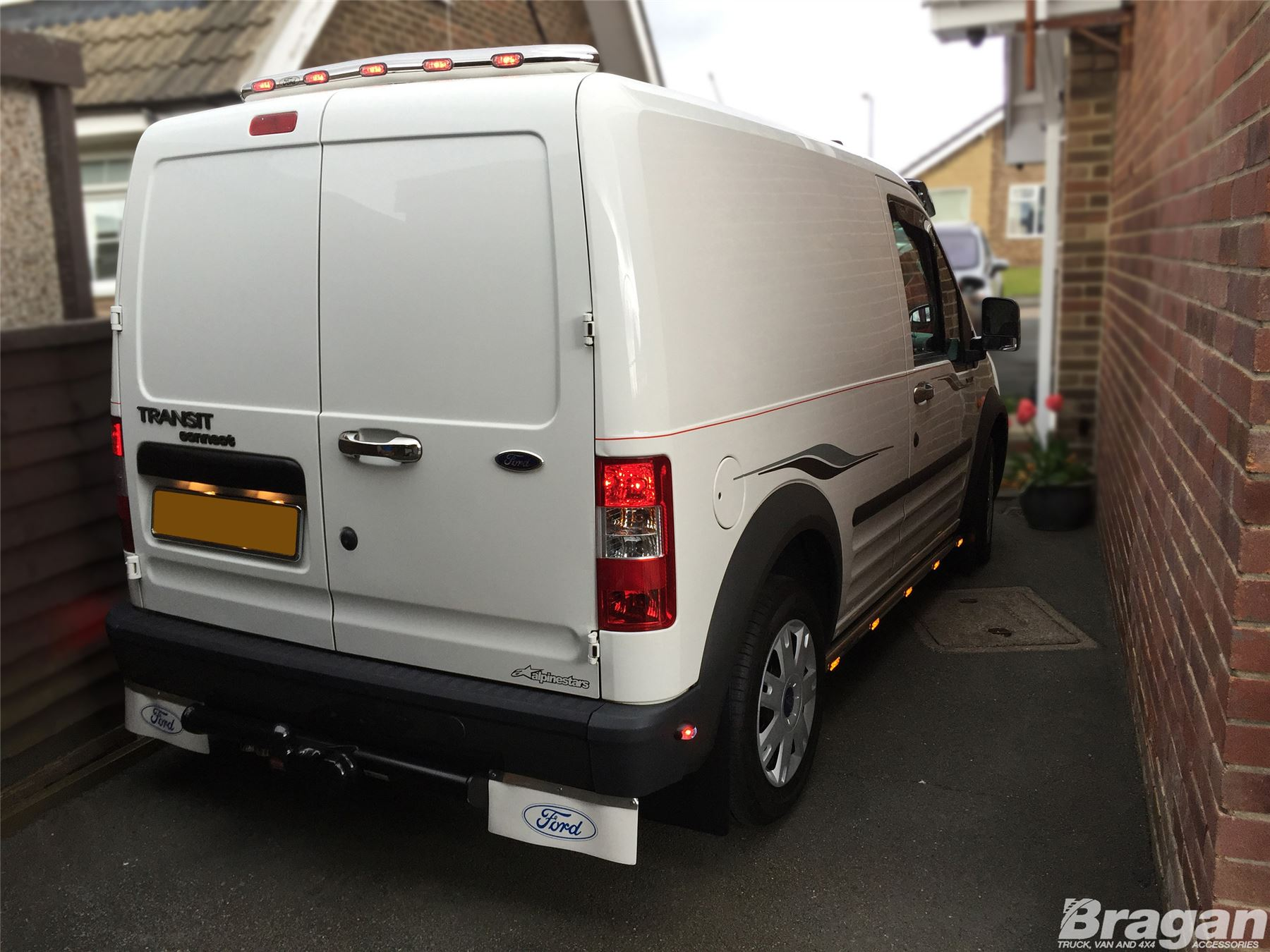 To Fit 02 14 Ford Transit Tourneo Connect Van Rear Roof