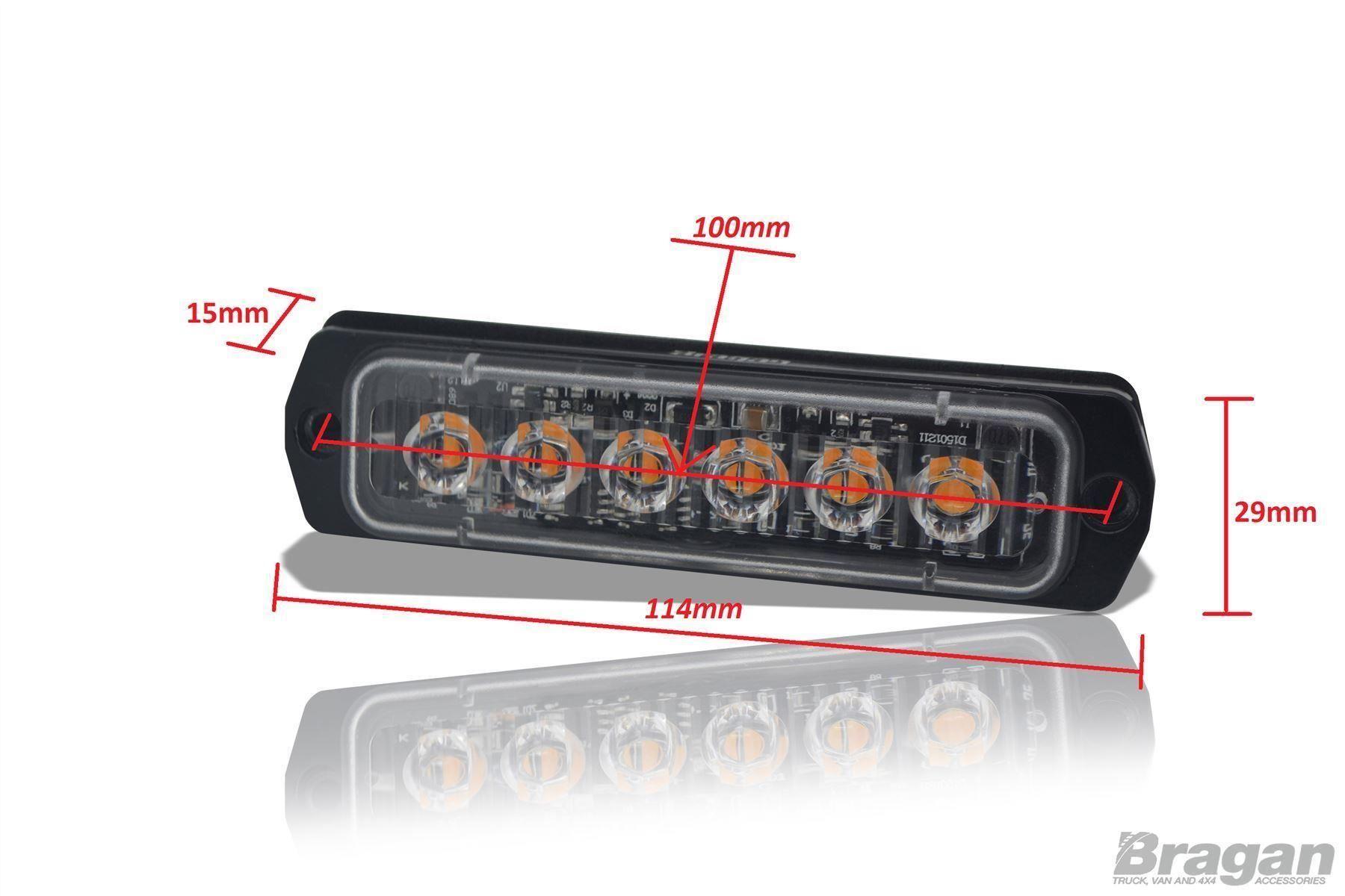 Auto Led Lampen : V rot slim stroboskopische beleuchtung led lampen berge