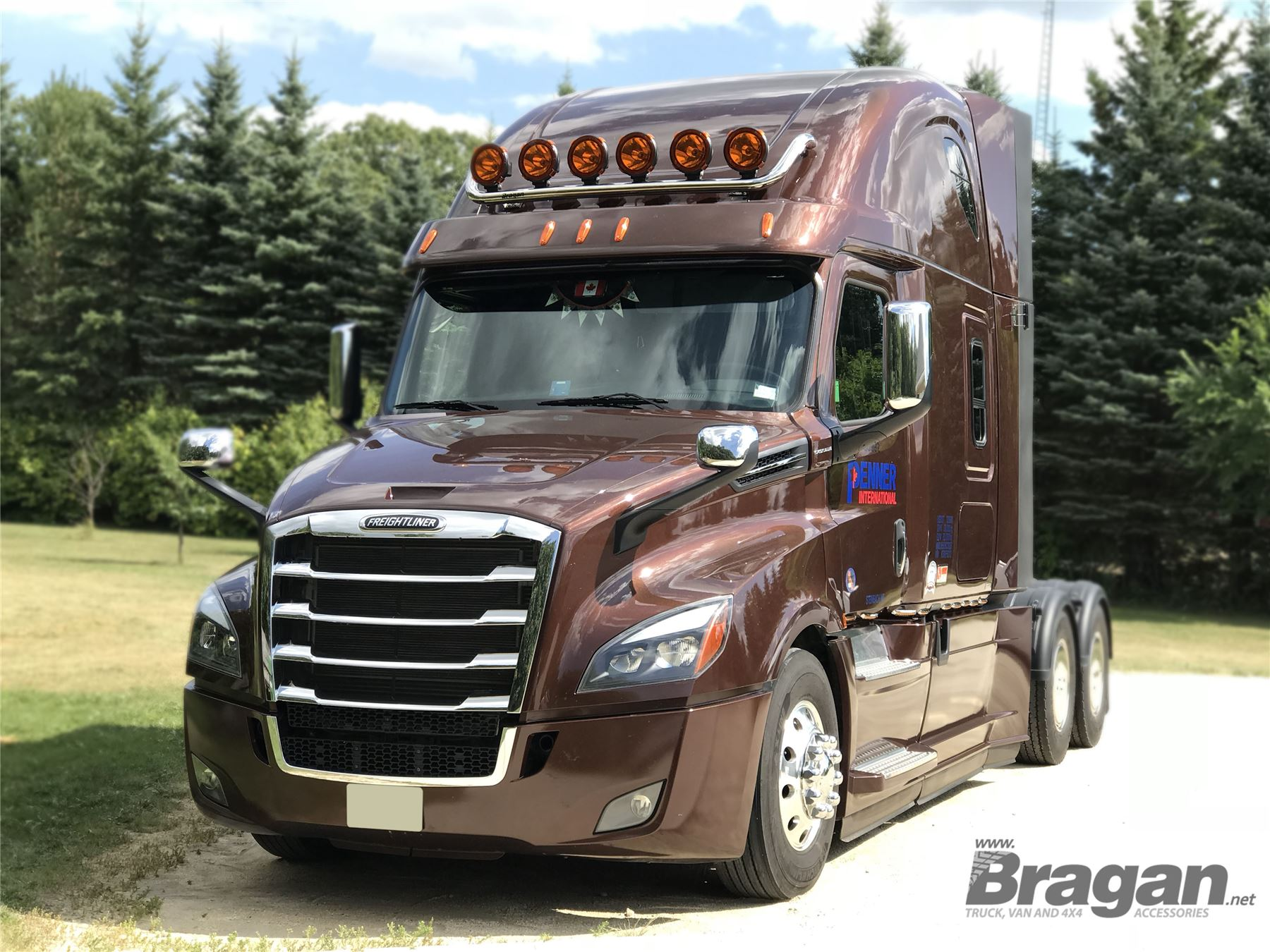 Details about To Fit Freightliner Cascadia Evolution S/Steel Tapered Roof  Bar Big Rig Truck
