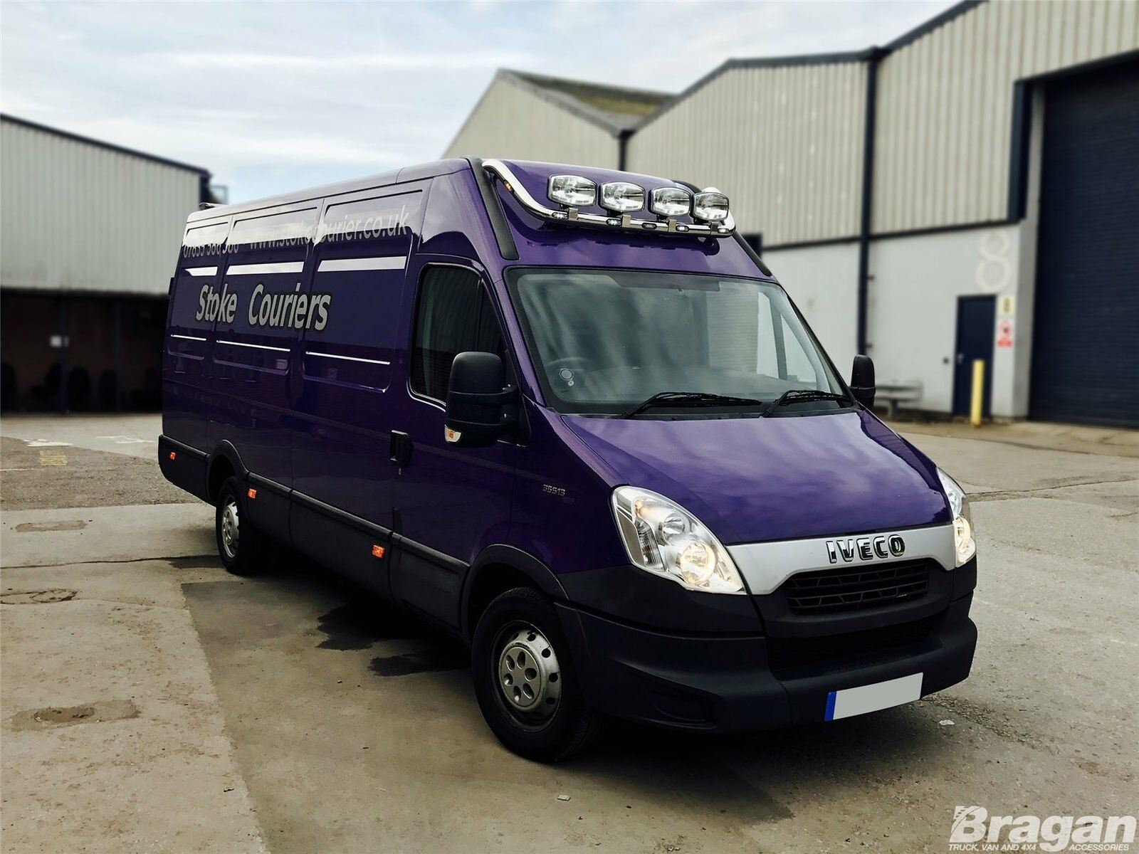 Pour s/'Adapter 07-14 Ford Transit MK7 en Acier Inoxydable Avant Plat toit Light Bar Van