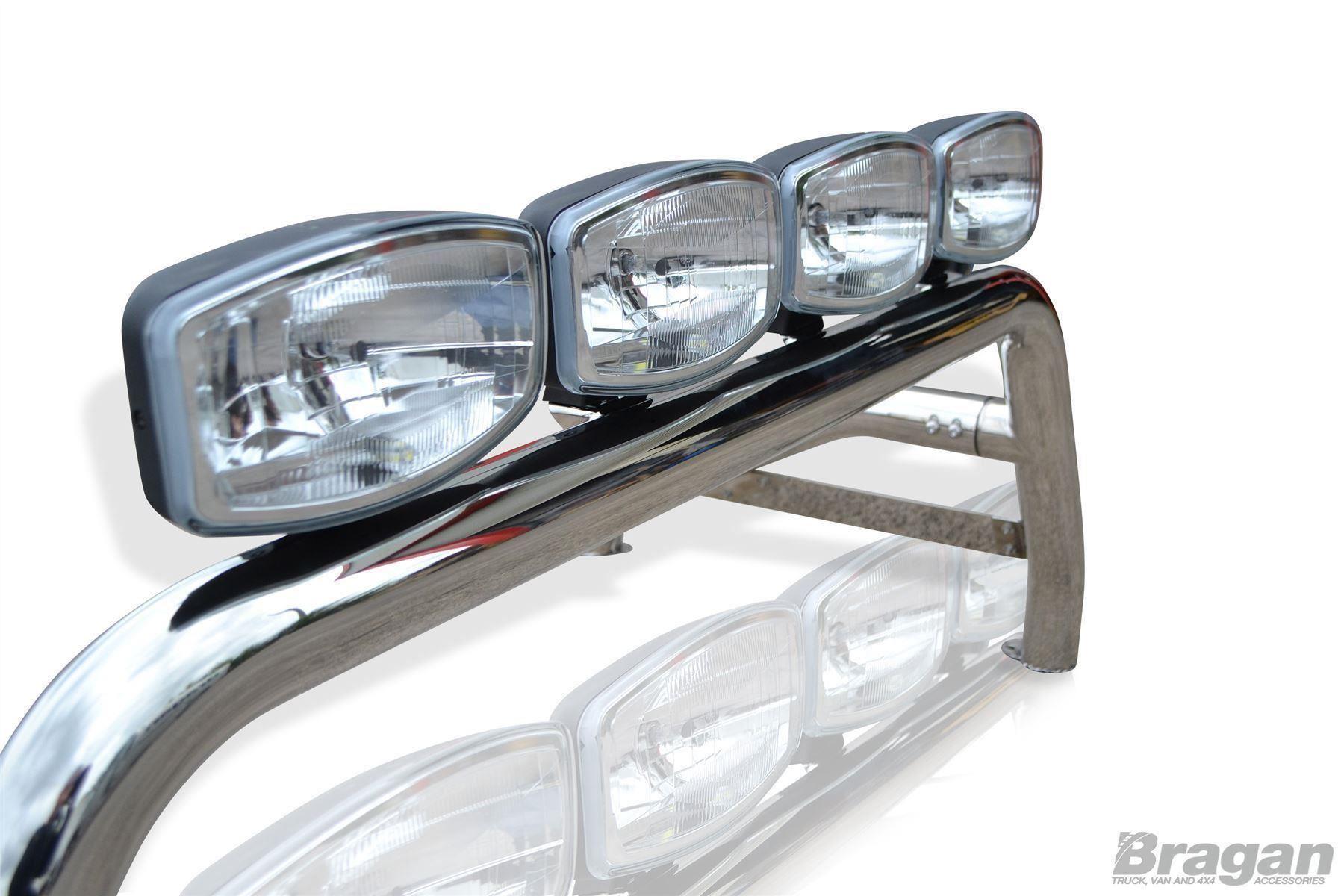 To Fit 2012 - 2016 Isuzu D-Max Rodeo Sport Roll Bar Steel + Jumbo Spots + LEDs