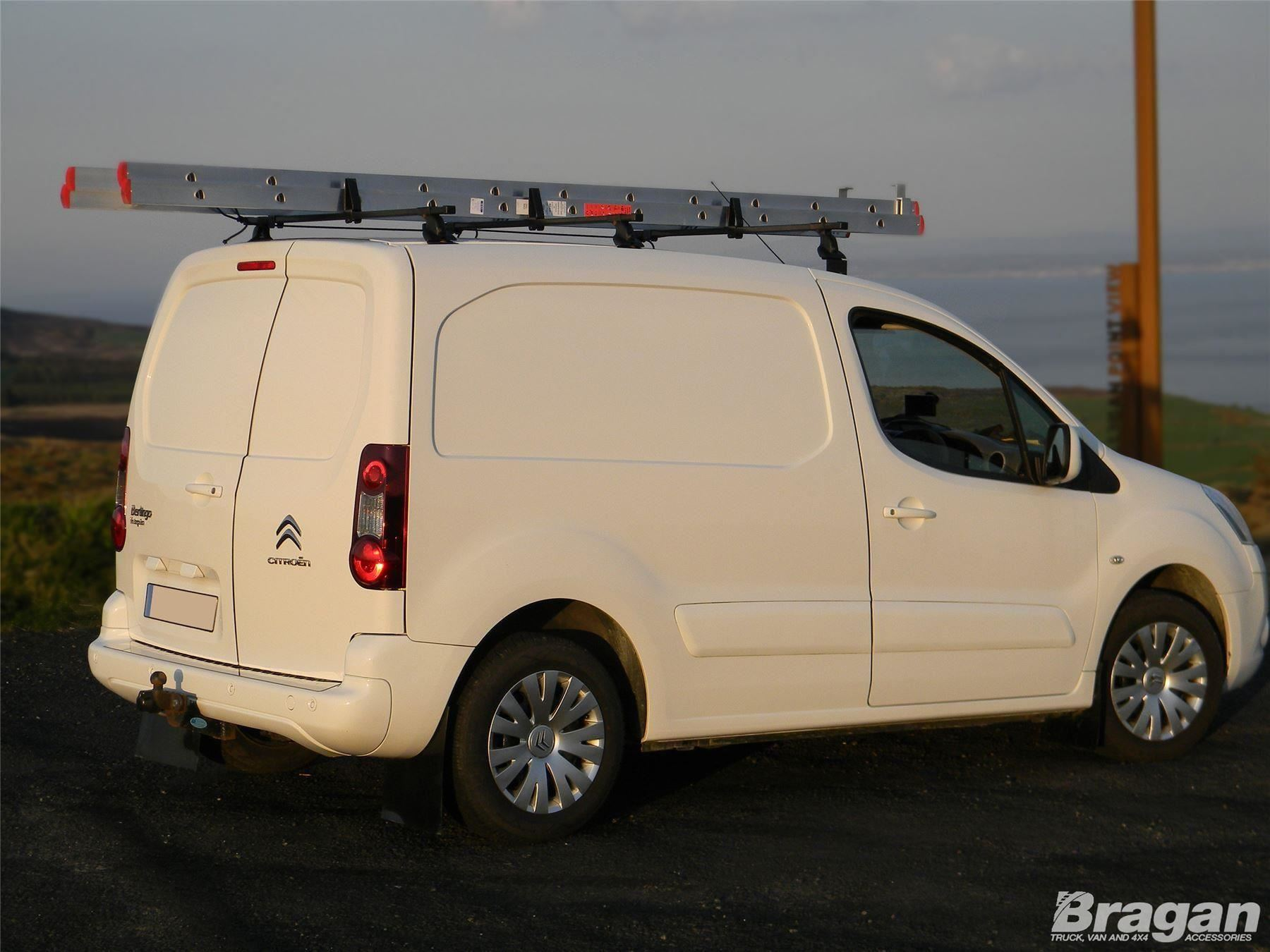To Fit 16 Citroen Berlingo Solid Locking Roof Rack Bars