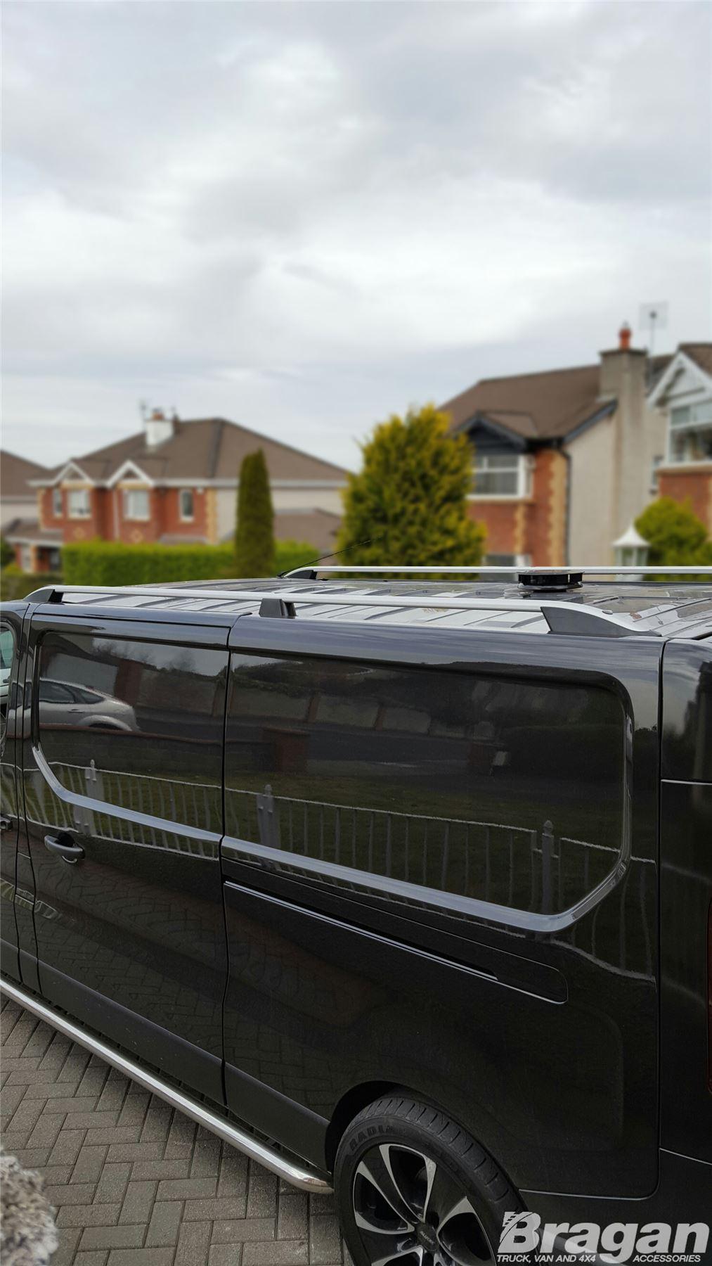To Fit 2014 Renault Trafic Lwb Aluminium Metal Roof Rails