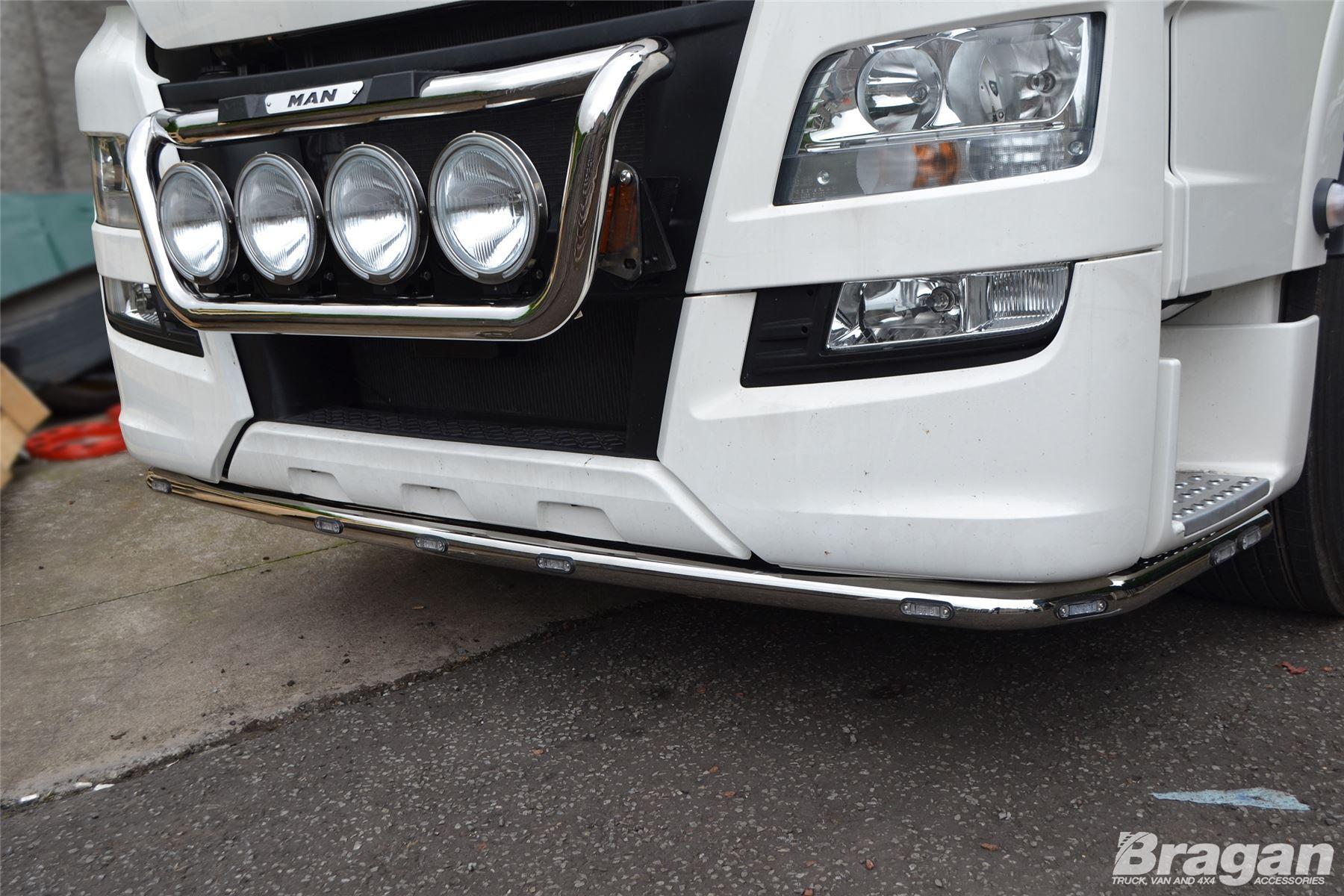 passend für 15 + MAN TGX Euro6 Stahl Low Lichtleiste Spoiler unter ...