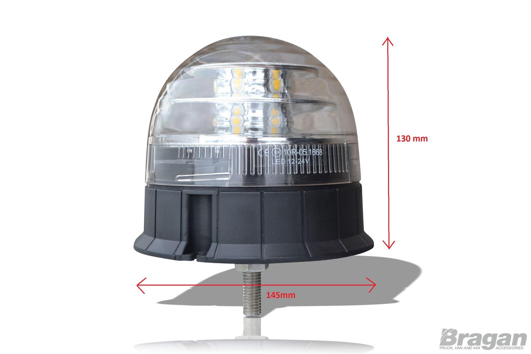 Dos x 12-24 V LED Faro Ámbar solo perno de montaje Luz Intermitente Seguridad Tractor