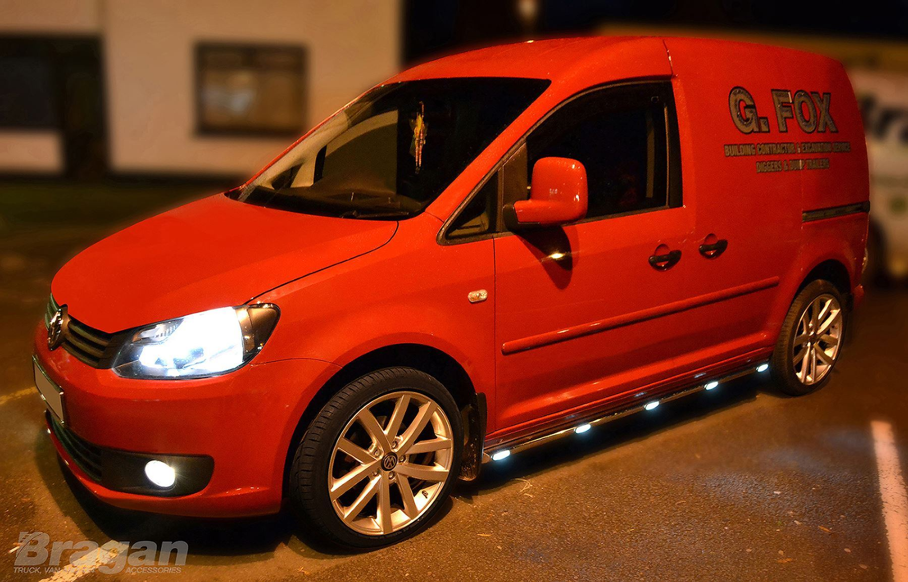 To Fit 2004 - 2010 VW Caddy Maxi Side Bars Steps Running Boards + ...