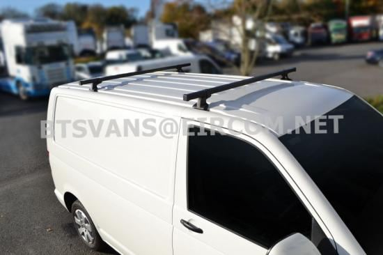 CITROEN DISPATCH JUMPY 2016/> COMPACT L1 SATIN BLACK ALUMINIUM ROOF RAIL BARS