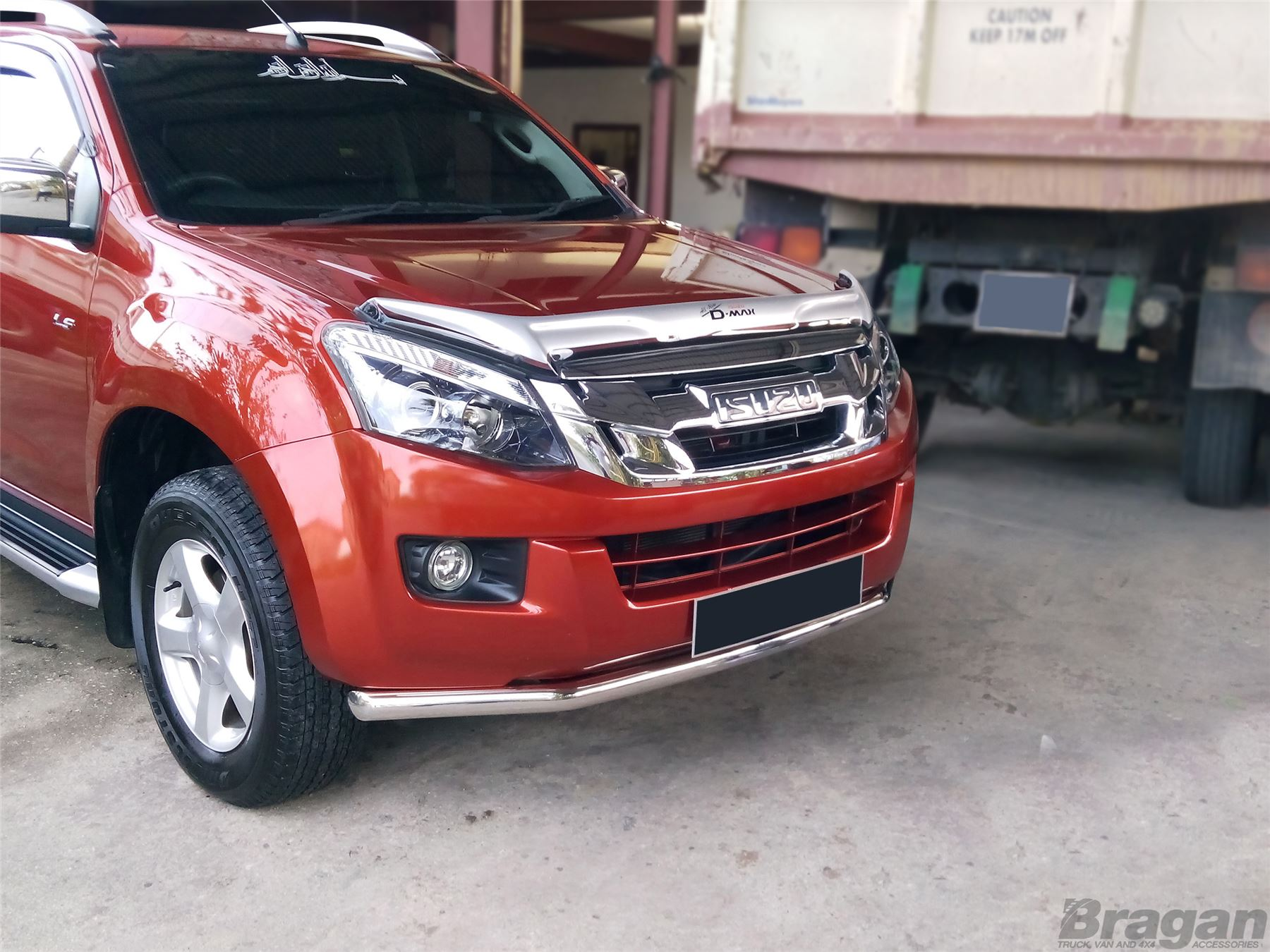 To Fit 12 16 Isuzu D Max Stainless Steel Front Bumper