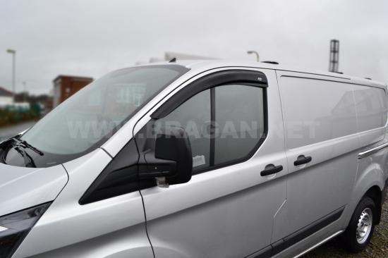 To Fit 13 Ford Transit Tourneo Custom Window Wind Rain Deflectors