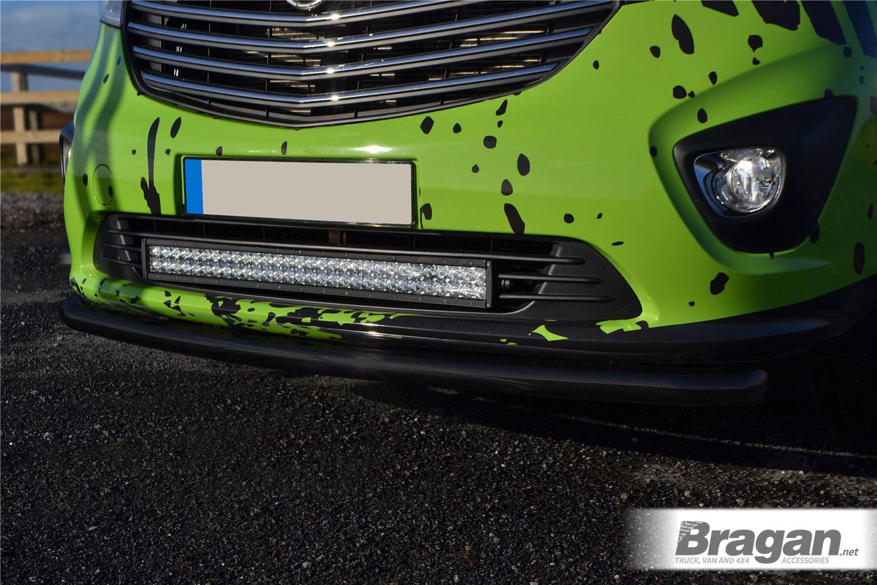Fitting Kit Bragan BRA34512-BLACK Van SUV 4x4 Bumper Nudge Chin Front Spoiler Bar Black Stainless Steel