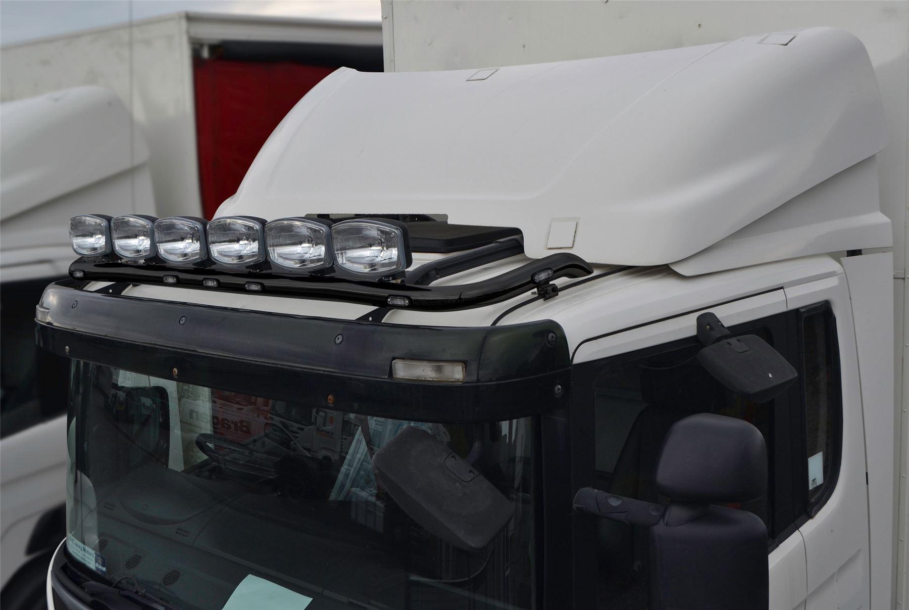 passend für MAN TGA XL Standard Kabel vorne schwarz Dach Lichtleiste ...
