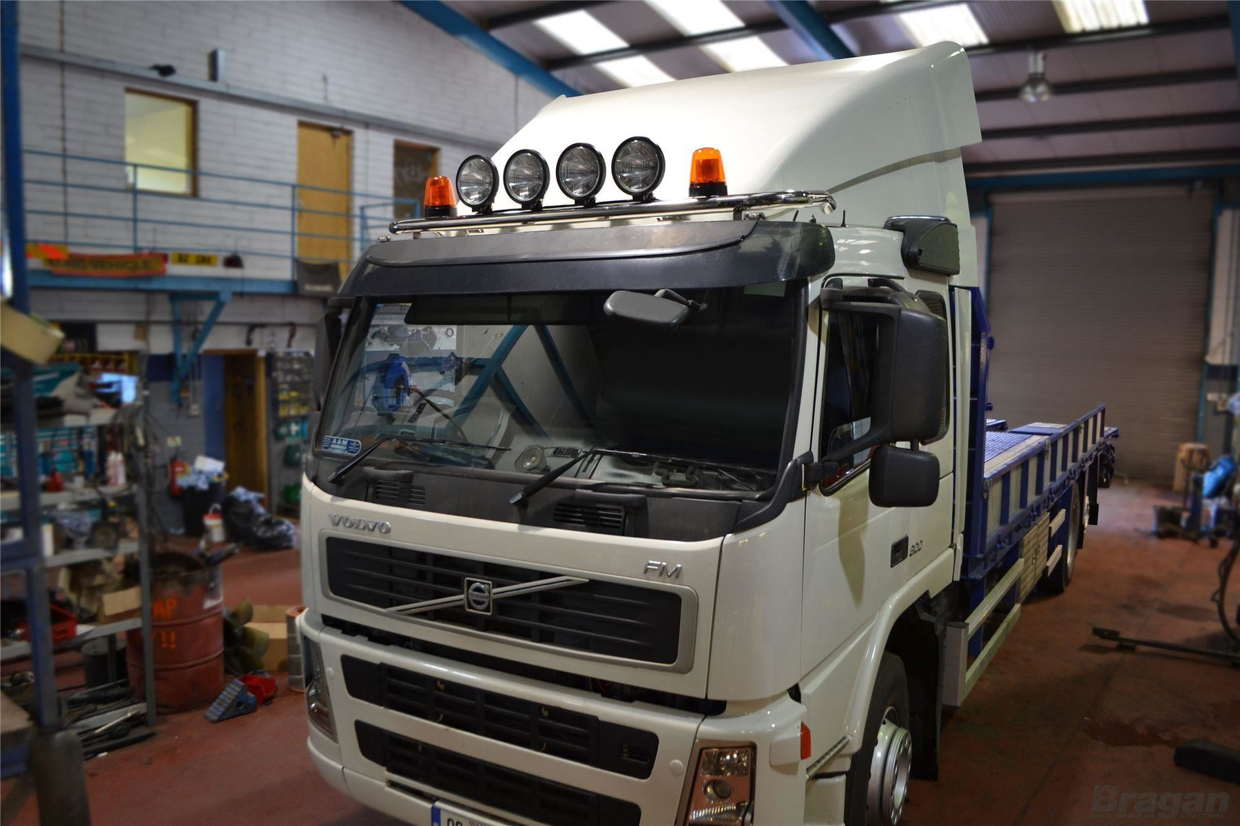 To fit volvo fmx day cab standard cab polished steel low roof light to fit volvo fmx day cab standard cab polished steel low roof light bar ebay aloadofball Images