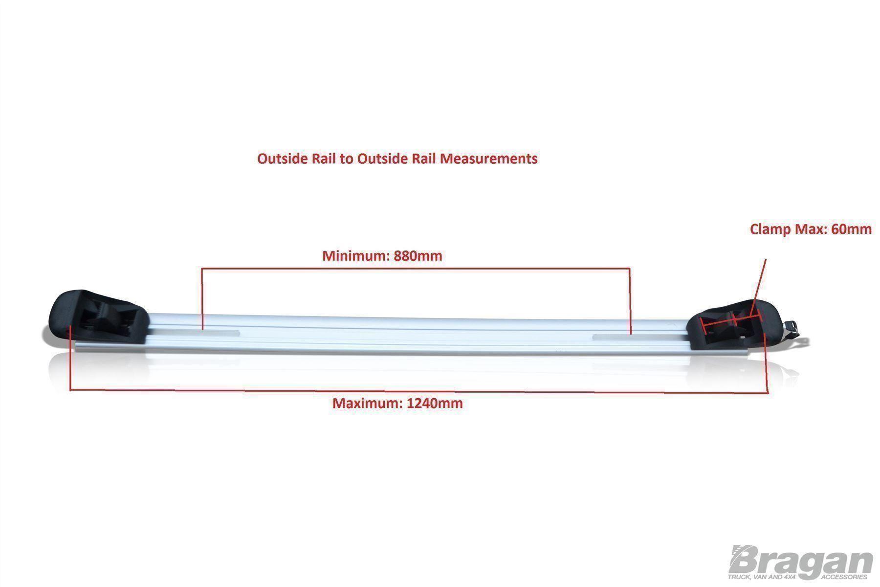 To Fit 04 Audi A3 Sportback Integrated Roof Rack Rail Locking Black Cross Bars
