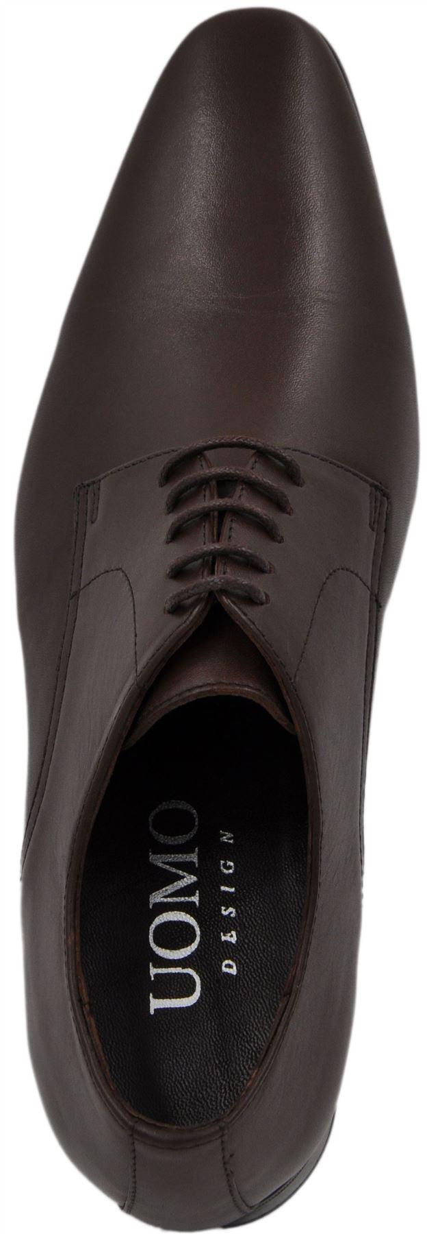 Richelieu 100% cuir à lacets San Paulo 1454_marron Scarpe classiche da uomo