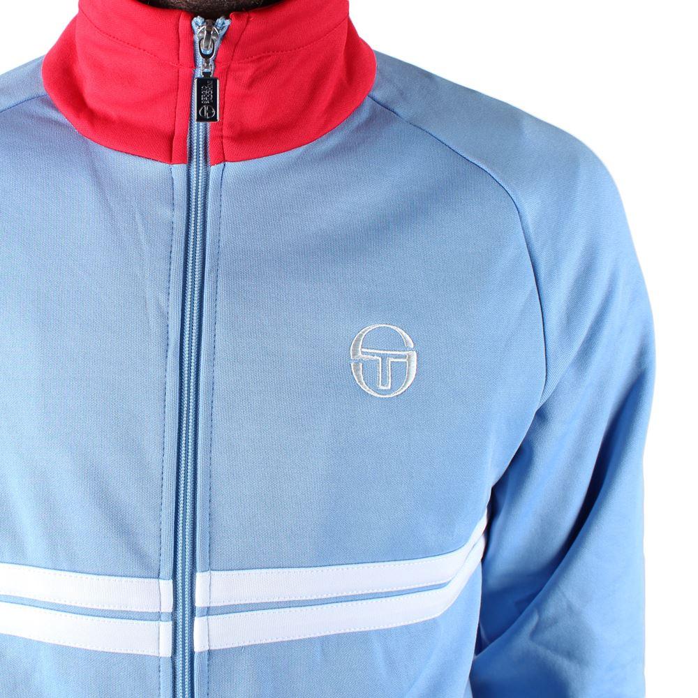 d2d612f195868 Mens Sergio Tacchini Dallas Sky Blue White Track Jacket
