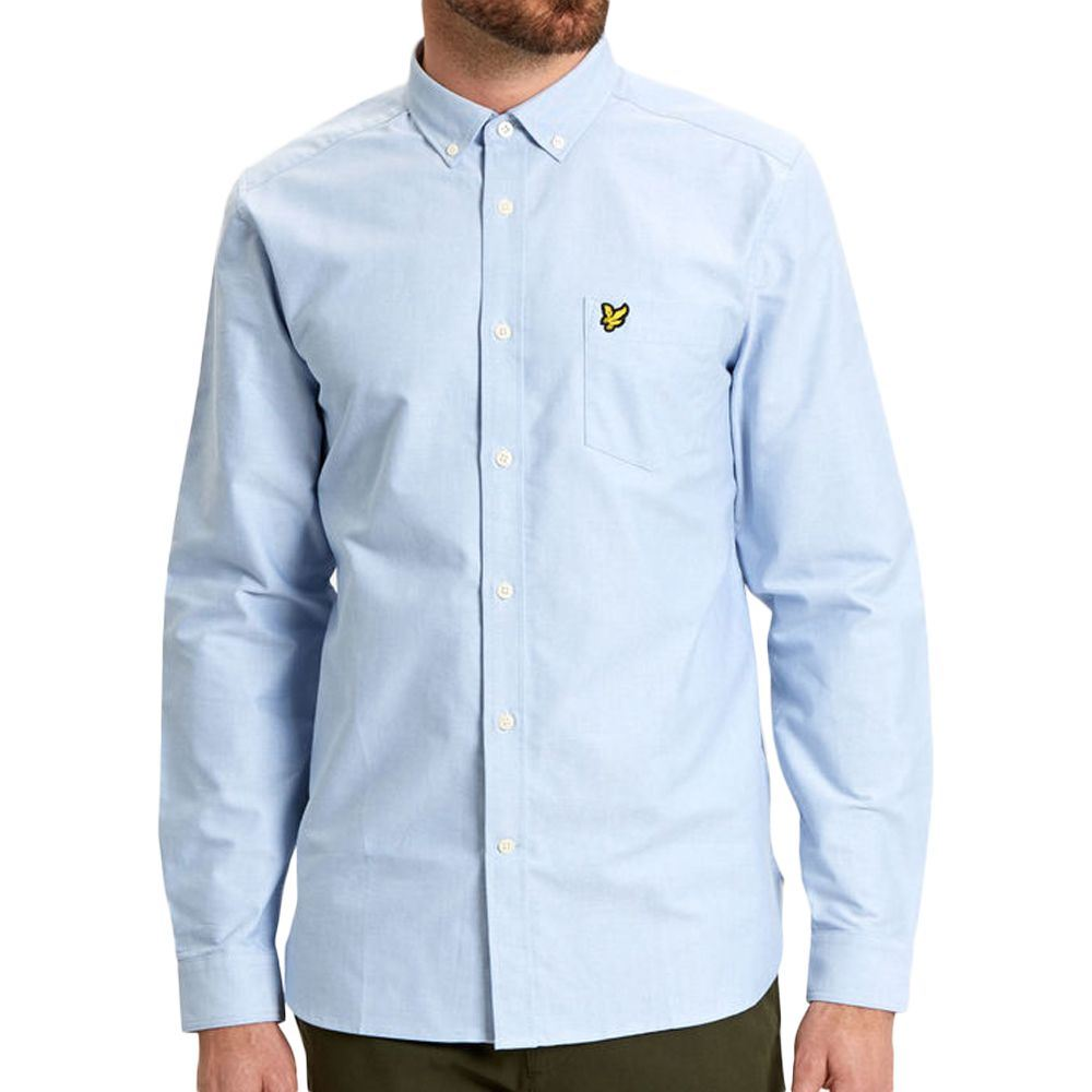 b510358525f Details about Mens Lyle & Scott Riviera Oxford Long Sleeve Shirt