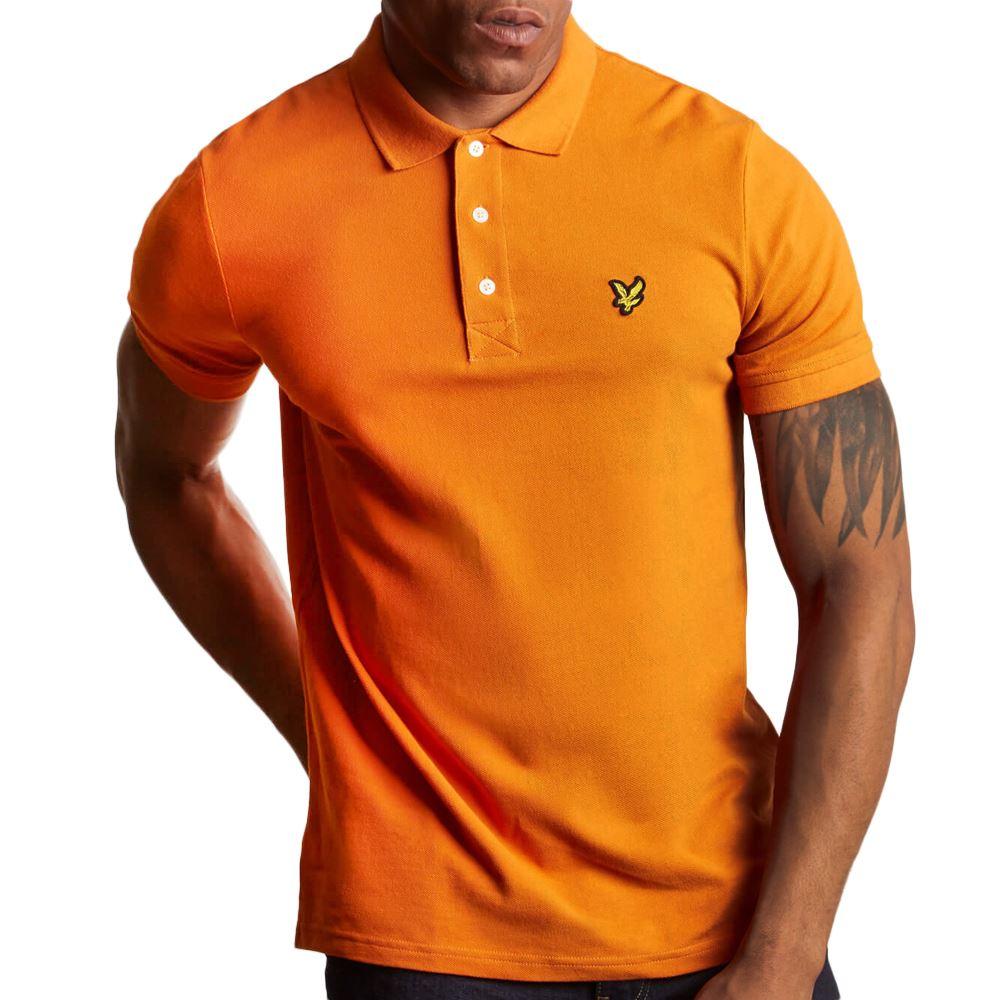 Mens Lyle & Scott Fiery orange Polo Shirt