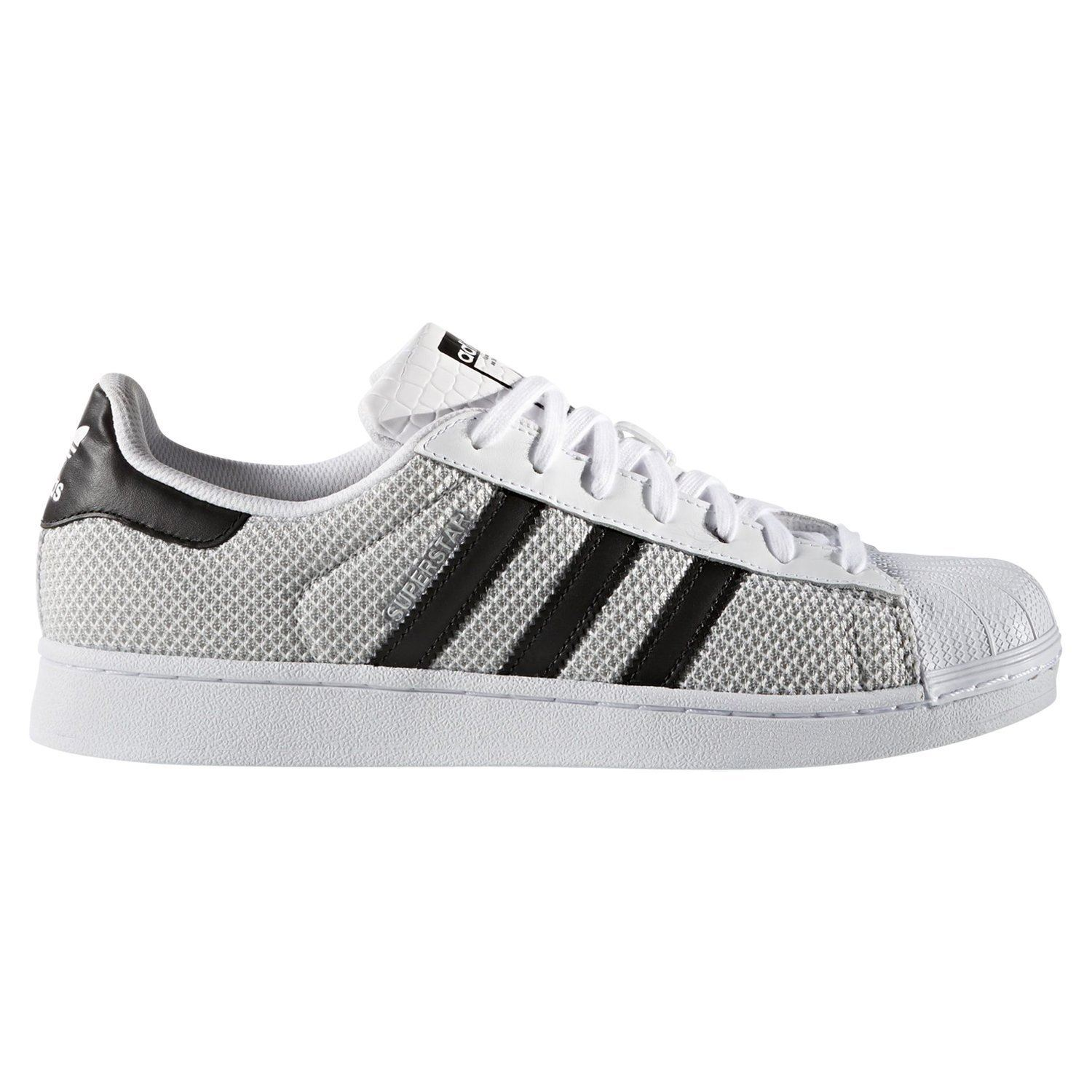 pretty nice d4f6b f7d4a adidas ORIGINALS MENS SUPERSTAR TRAINERS WHITE UK 4 5 9 WEAVE SHELL TOP  SHOE