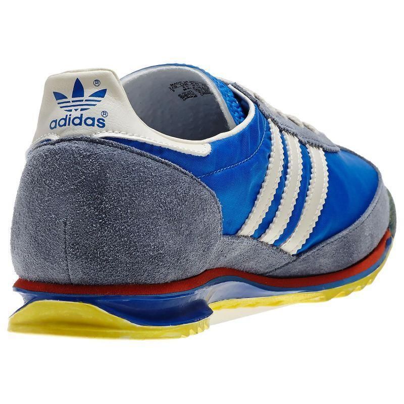 adidas-ORIGINALS-MEN-039-S-SL-72-VINTAGE-TRAINERS-BLACK-NAVY-WHITE-SNEAKERS-SHOES miniatuur 10