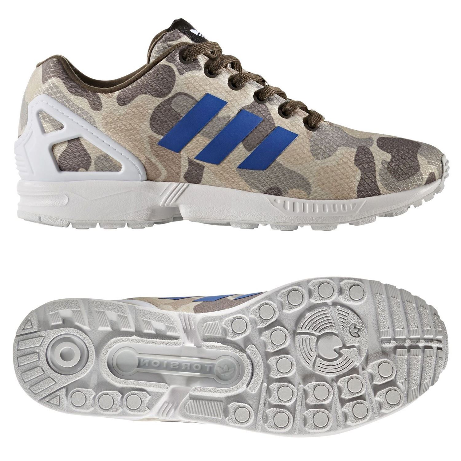 12971c288bfeb Details about adidas ORIGINALS MEN S ZX FLUX TRAINERS MULTI CAMO SNEAKERS  SHOES RUNNING COMFY