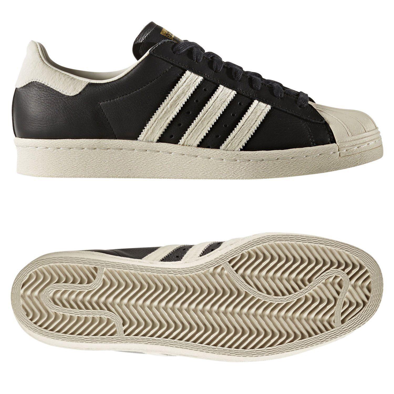 buy popular 0fea7 352ae SUPERSTAR 80S entrenadores negro zapatos SHELL TOE RETRO nuevo Adidas  ORIGINALS hombre