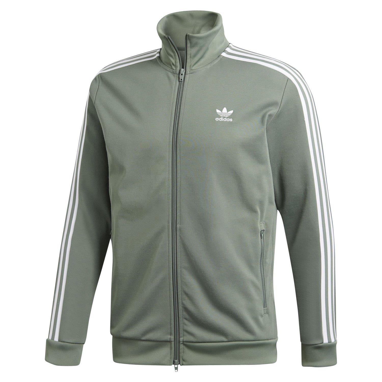 Details zu Adidas Original Beckenbauer Trainingsjacke Spur Grünes Oberteil Retro HERREN