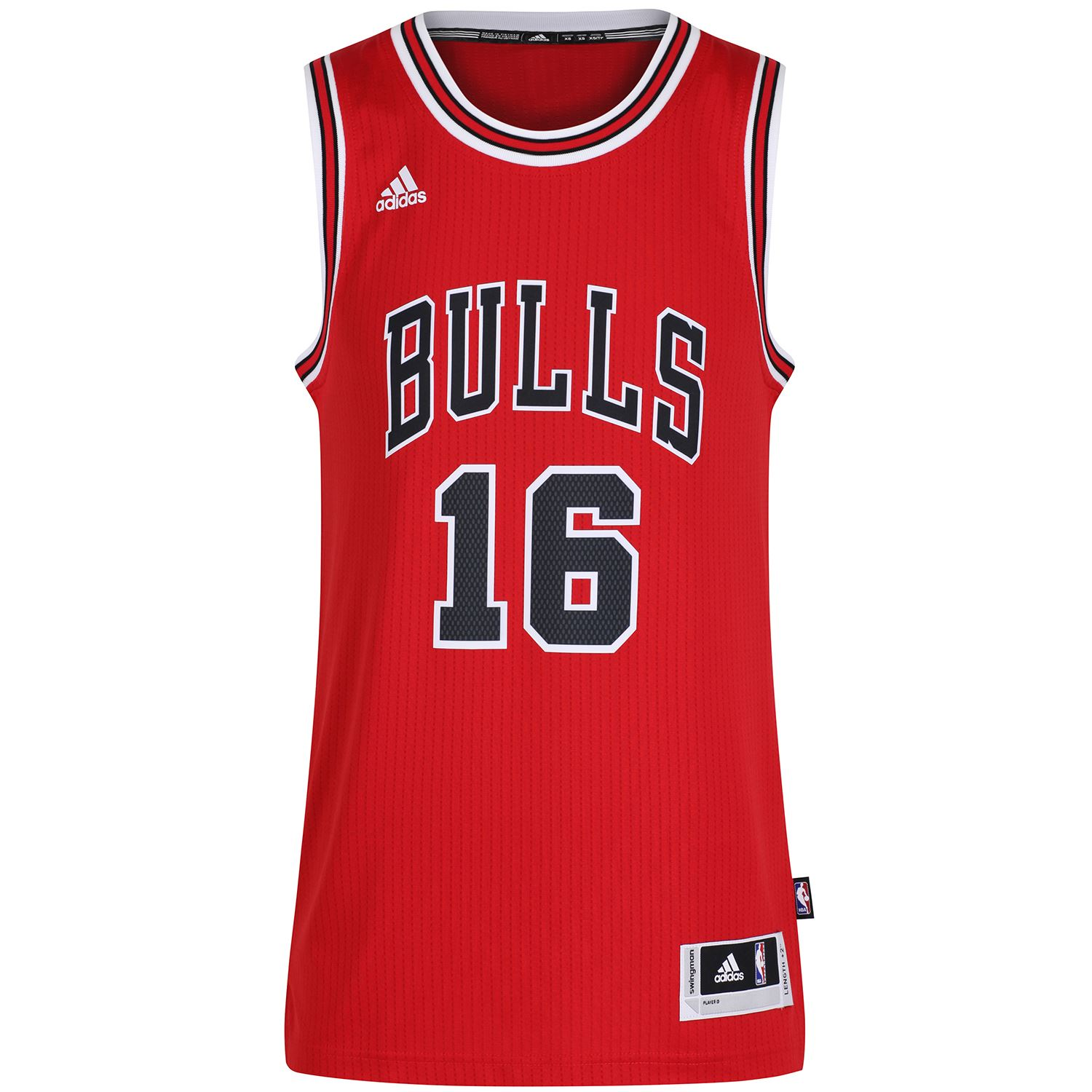 check out affd2 73ef1 Details about adidas PAU GASOL JERSEY SWINGMAN +2 LENGTH CHICAGO BULLS  BASKETBALL NBA CREW
