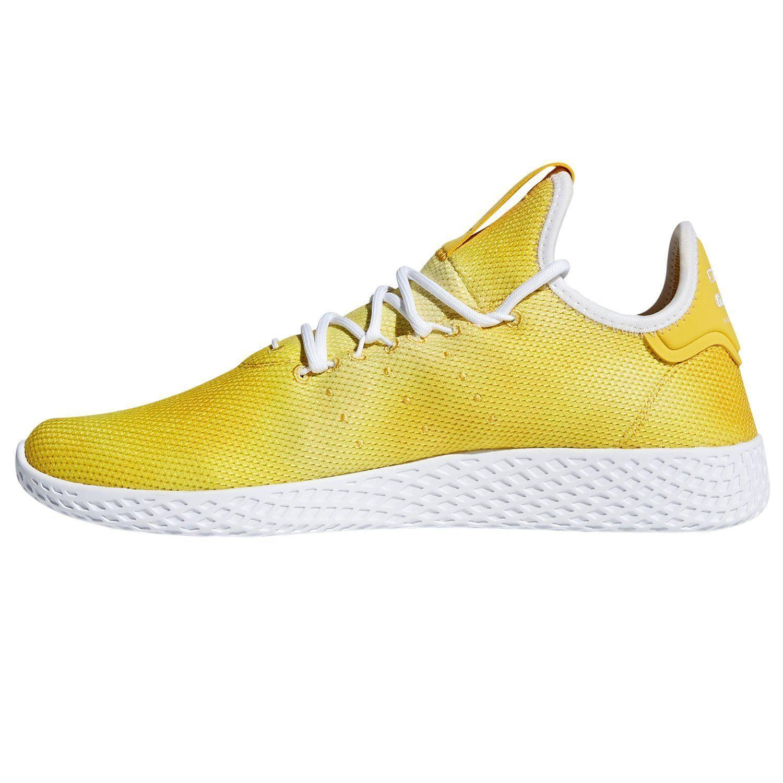 Adidas PHARRELL WILLIAMS HU TENNIS SCARPE SNEAKERS formatori calci uomini  gialli dc9c99e650d