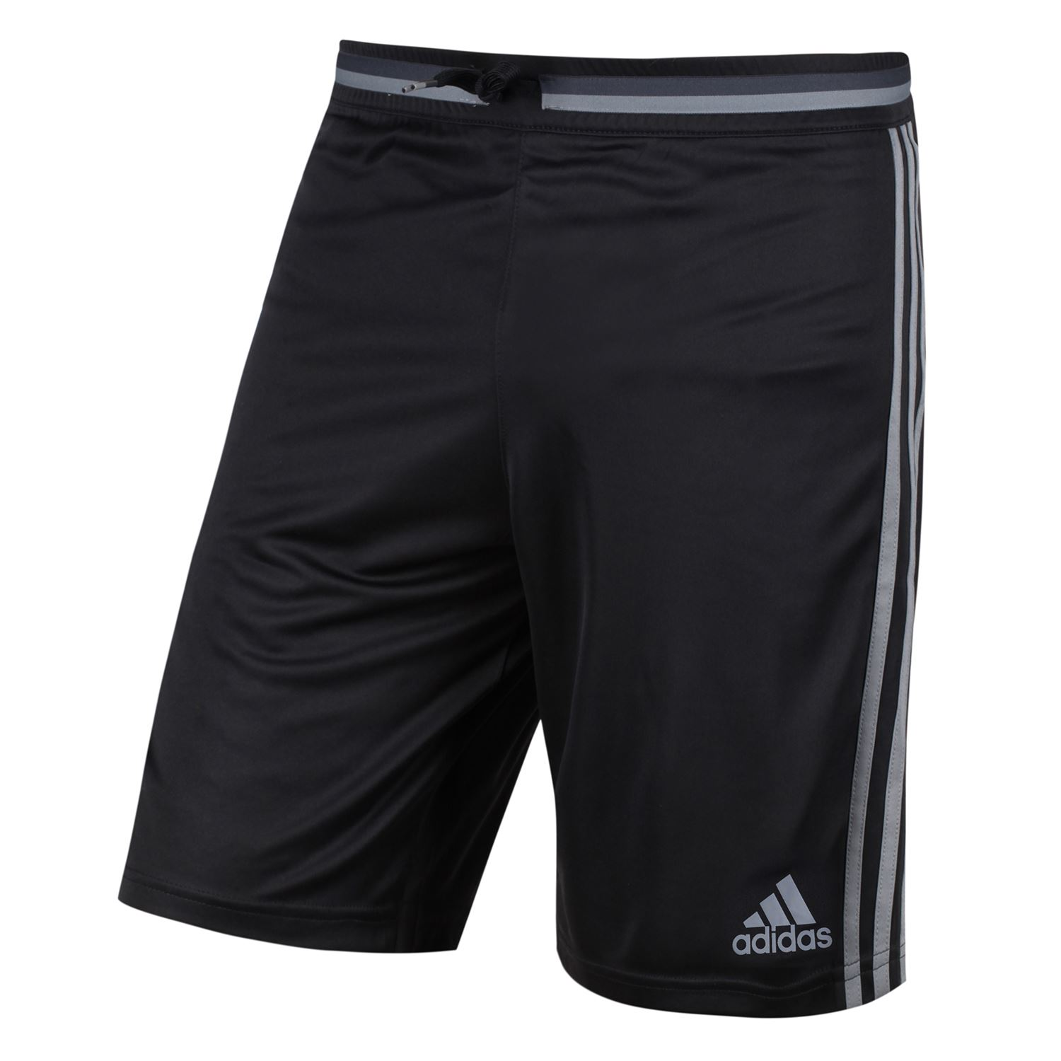 adidas DENMARK NATIONAL TEAM TRAINING SHORTS BLACK GREY FOOTBALL SOCCER ADIZERO