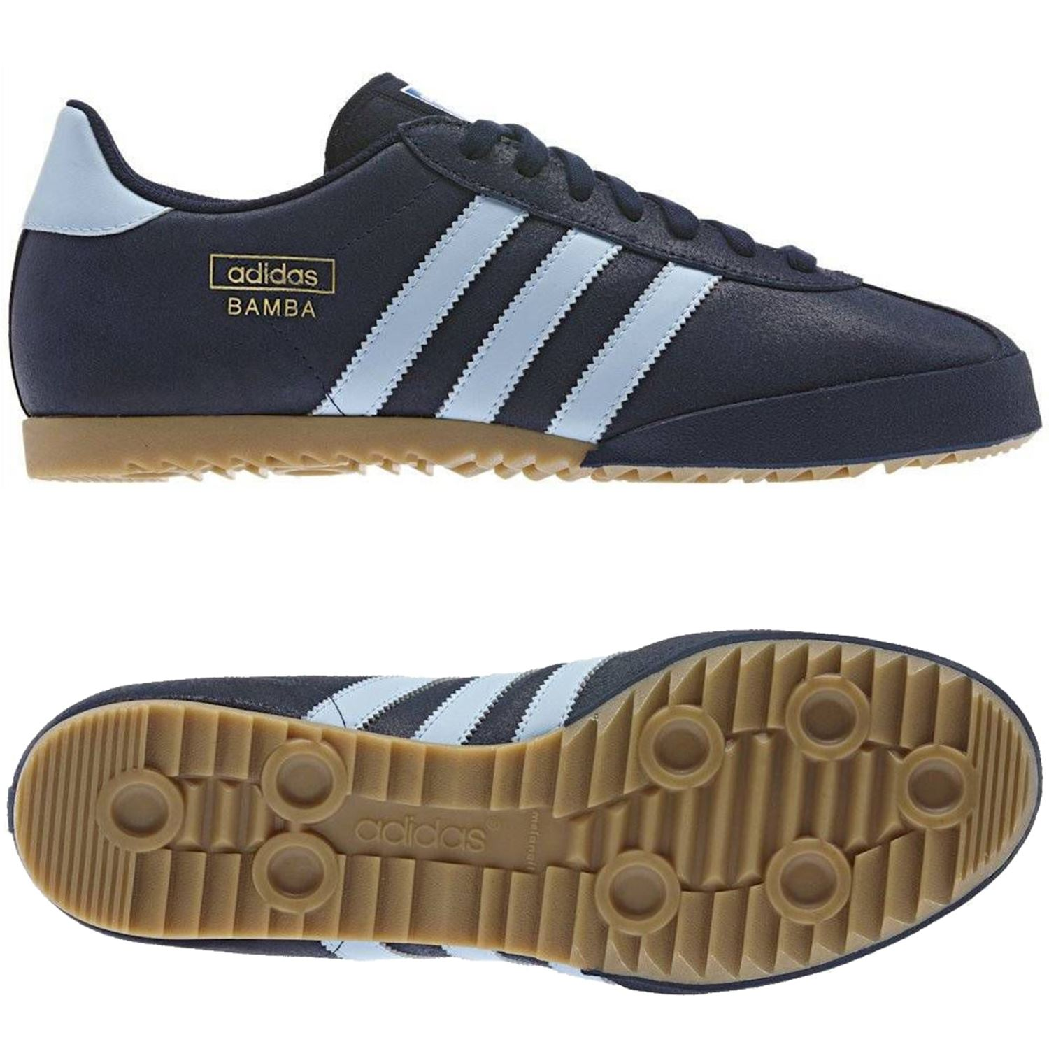 New Details Sizes 8 11 About Deadstock Adidas Samba Like Navy Originals Bamba Trainers Blue rra0p