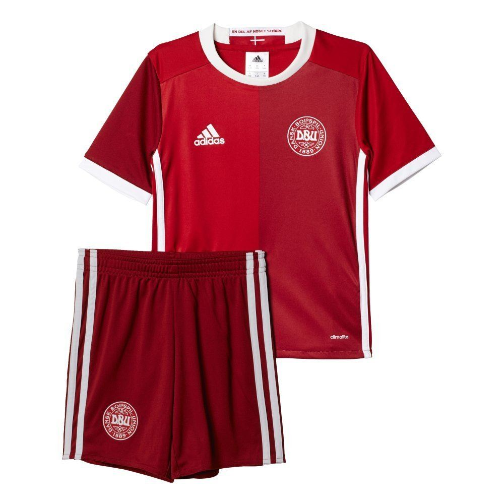 the latest 737f9 5eac6 Details about adidas DENMARK MINI KIT DANISH NATIONAL TEAM KIDS 1 - 6 YEARS  CHILDREN'S HOME