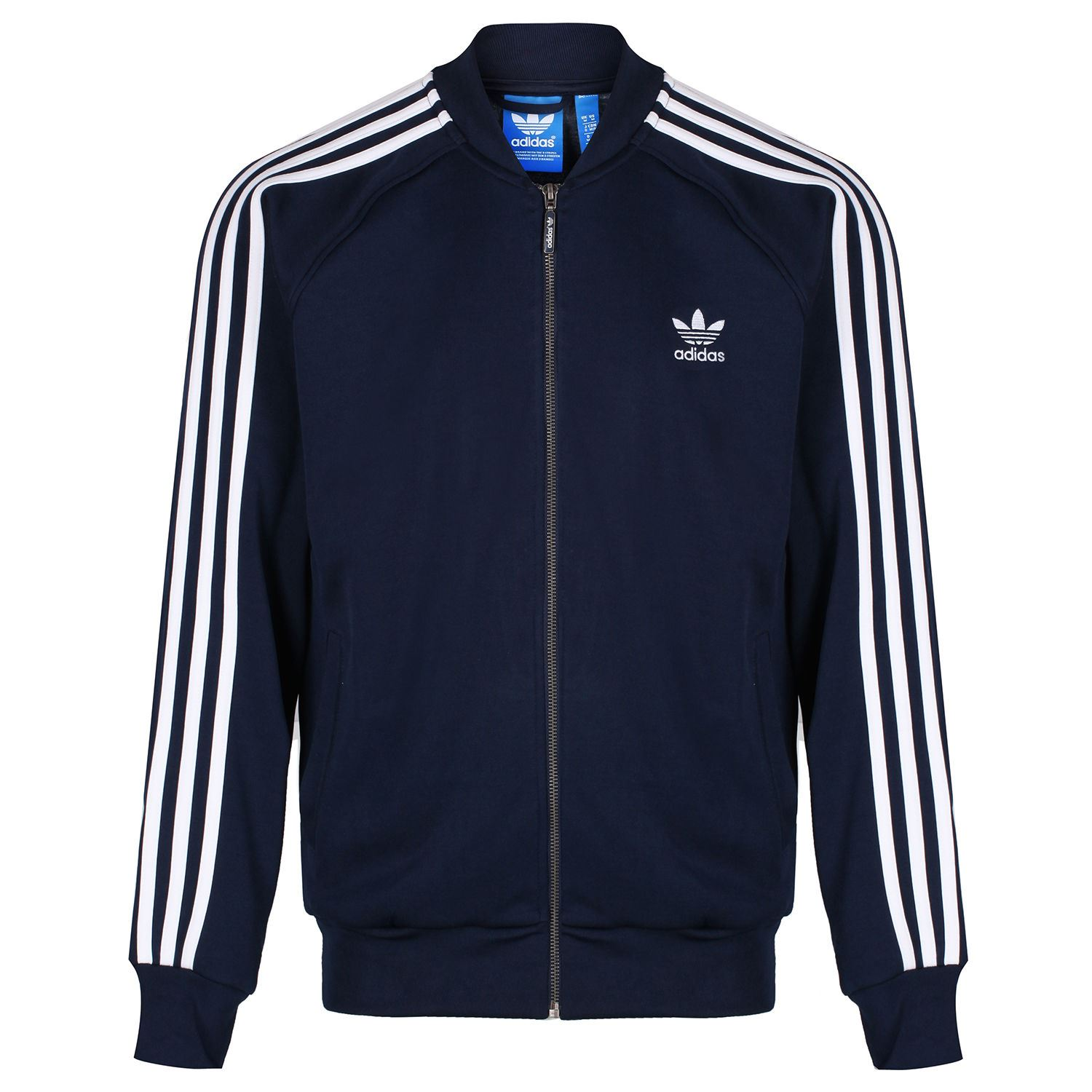 Details about adidas ORIGINALS MEN'S SUPERSTAR TRACK TOP JACKET NAVY RETRO VINTAGE TREFOIL NEW