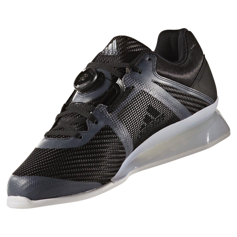 Details zu Adidas Leistung 16 2.0 Gewichtheben Schuhe Schwarz Sneakers Sportschuhe HERREN