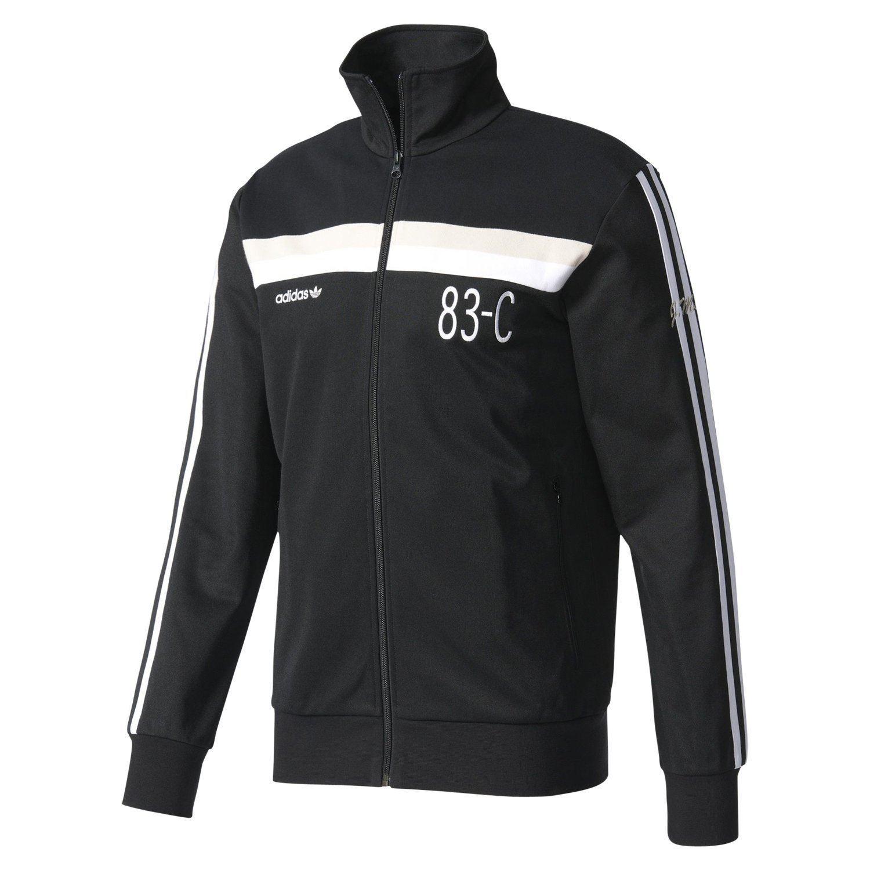 c8d13563b77f Adidas ORIGINALS Herren-83-C-Gleis TOP schwarz Retro-Jacke 90er 80er  TREFOIL neue