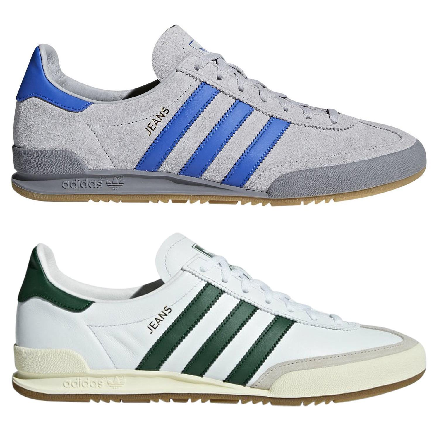 on sale on sale online for sale Adidas ORIGINALS Homme Jeans Baskets Baskets Chaussures Gris Blanc ...
