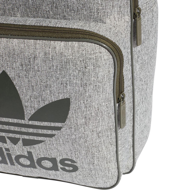 59a0f8d47d91 adidas ORIGINALS MEN S CLASSIC TREFOIL BACKPACK RUCKSACK BAG GREY GREEN  SCHOOL