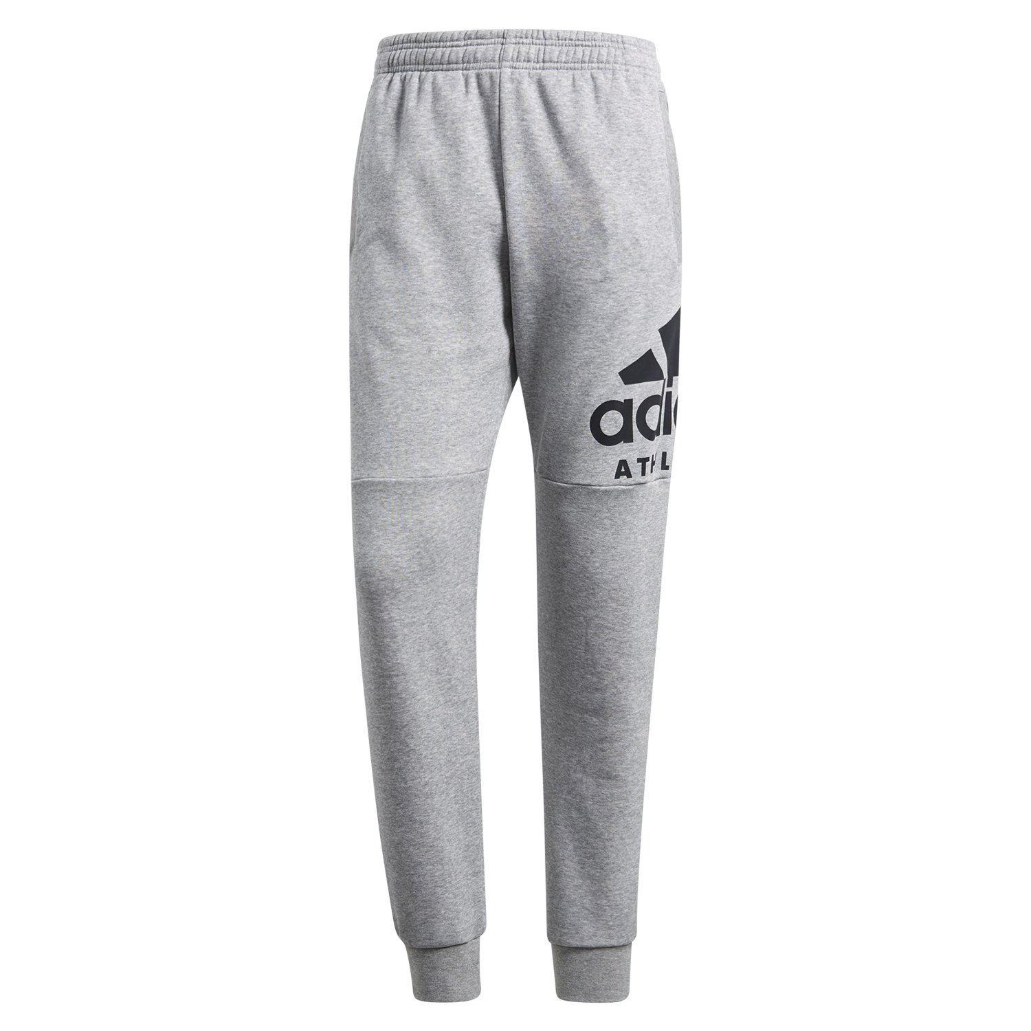 27285884b4bf9 Details about adidas ESSENTIALS SPORT ID TRACK PANTS GREY TRACKIES MEN'S  GYM LEISURE FLEECE