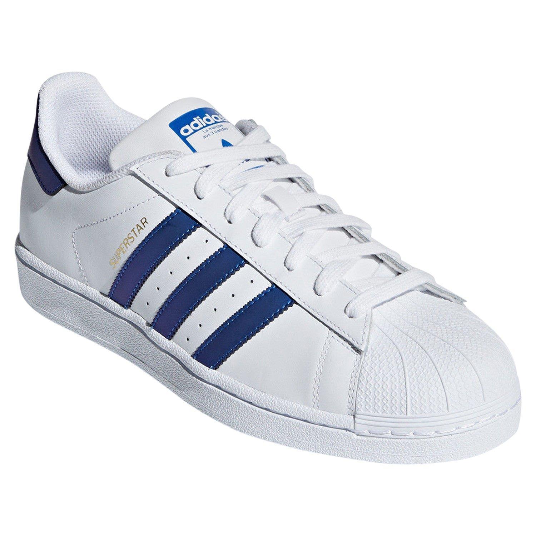 Schuhe Adidas Weiß Hülle Superstar Details Leder Turnschuhe Neu zu Original Zehen v8nwmN0