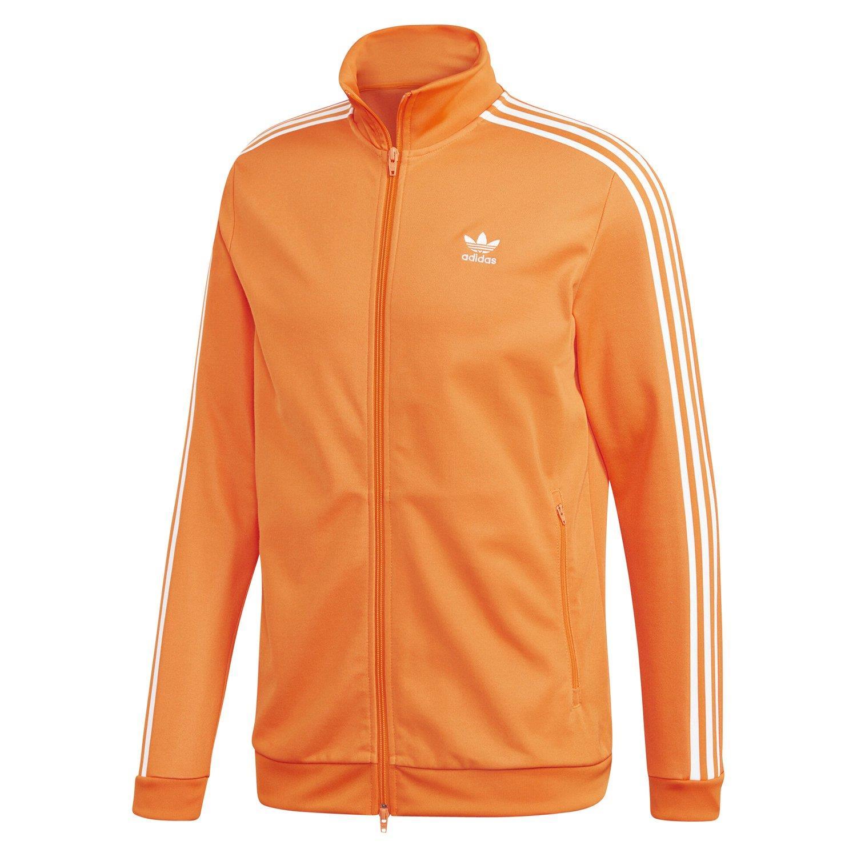 Details zu Adidas Original HERREN Beckenbauer Jacke Orange Trefoil Retro Vintage Neu BNWT