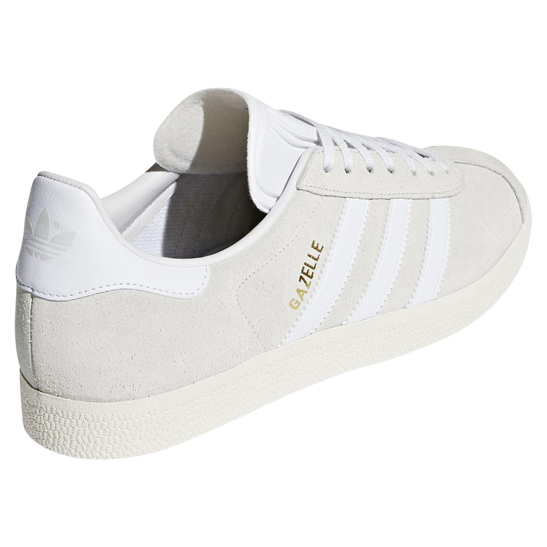 new concept d2b96 03405 GAZELLE entrenador blanco zapatillas zapatos SMART CASUAL RETRO Hombres  Adidas ORIGINALS