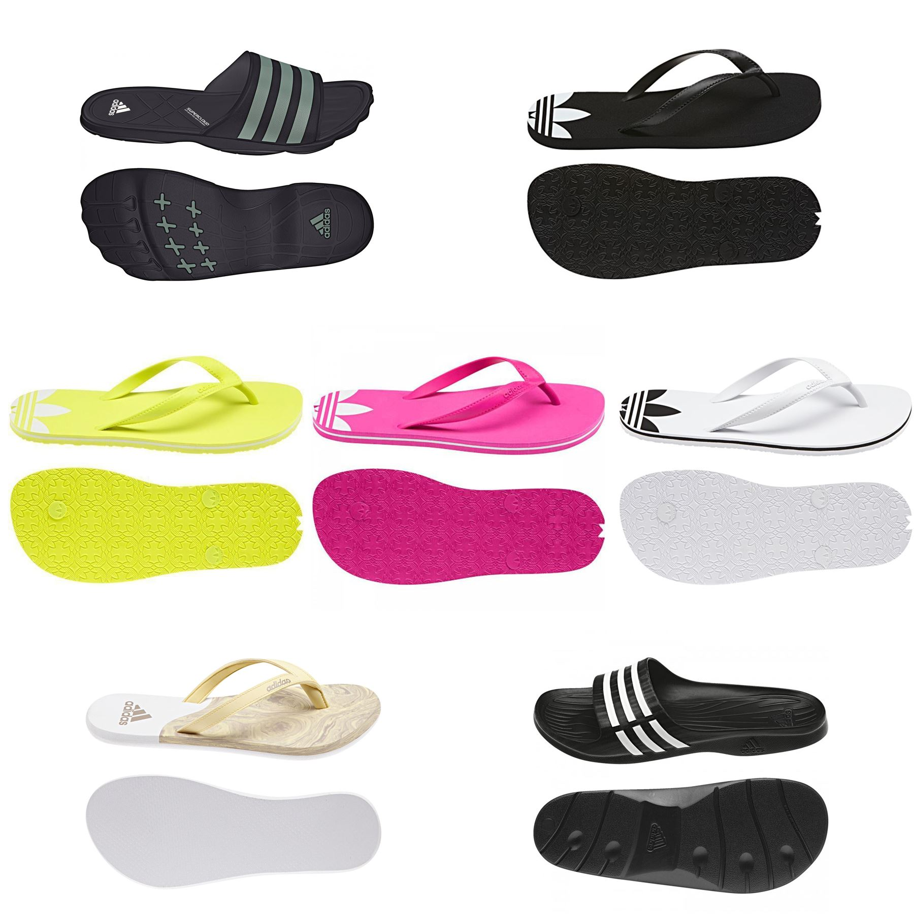 4872410e3bdc6 Details about adidas ORIGINALS FLIP FLOPS SANDALS SLIDERS ADI SUN POOL BEACH  HOLIDAYS THONGS