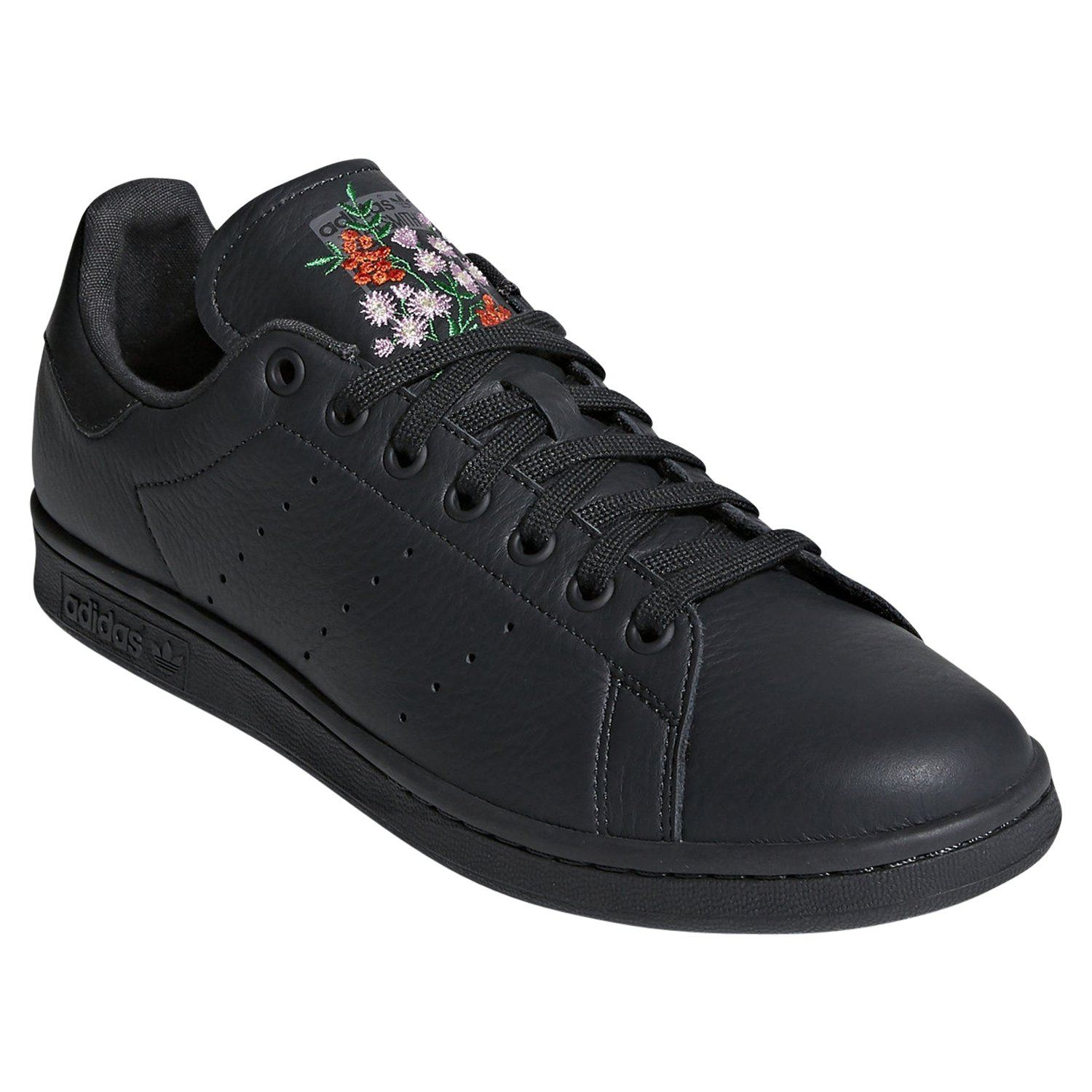 free shipping a2c95 7bcc7 Details about adidas ORIGINALS STAN SMITH PREMIUM BLACK FLORAL MEN'S  TRAINERS SHOES SNEAKERS
