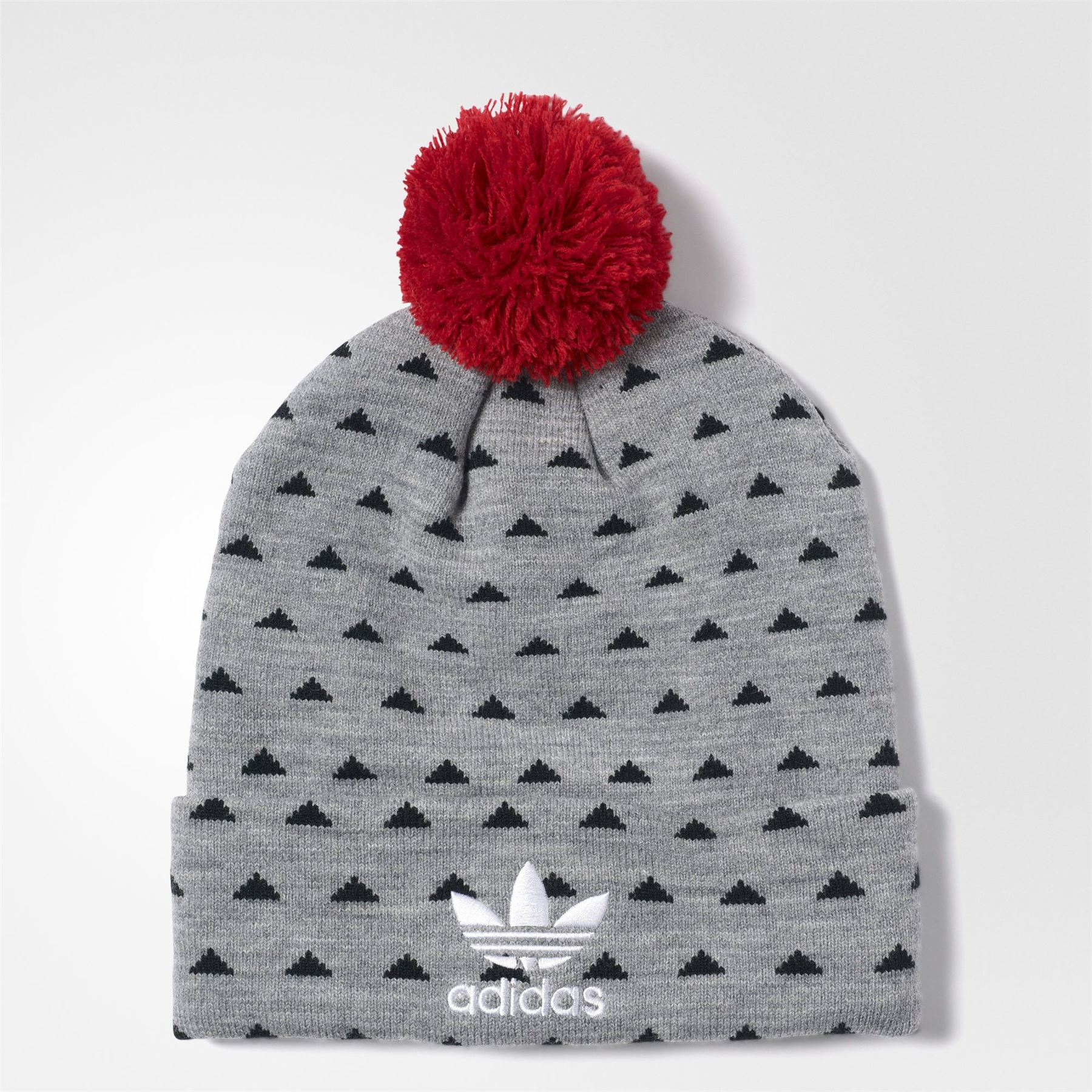 Details about adidas ORIGINALS PHARRELL WILLIAMS HU BEANIE WOMEN S GREY  TREFOIL 3 STRIPES WARM 3d91115c6cd5