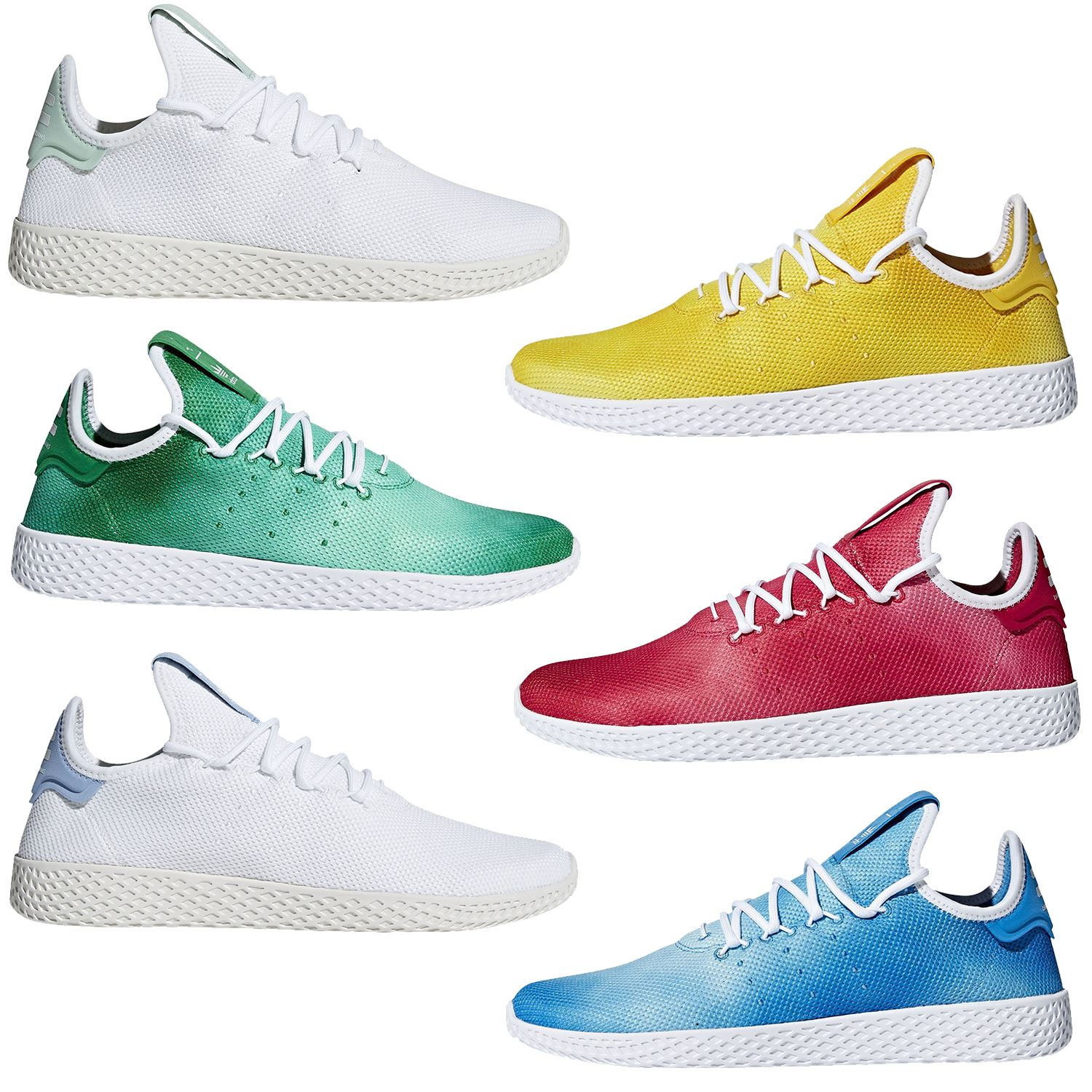 new style 821a4 71e3f Details about adidas ORIGINALS PHARRELL WILLIAMS HU TENNIS SHOES TRAINERS  SNEAKERS MENS