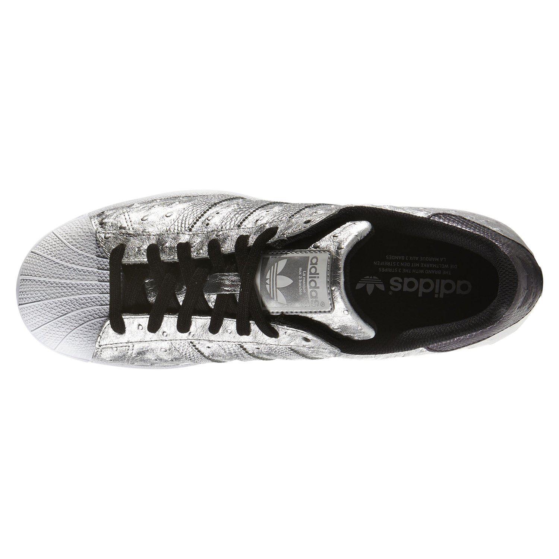 Détails sur Adidas Originaux HOMME Superstar Baskets Argent Chaussures Rare Peau de Serpent