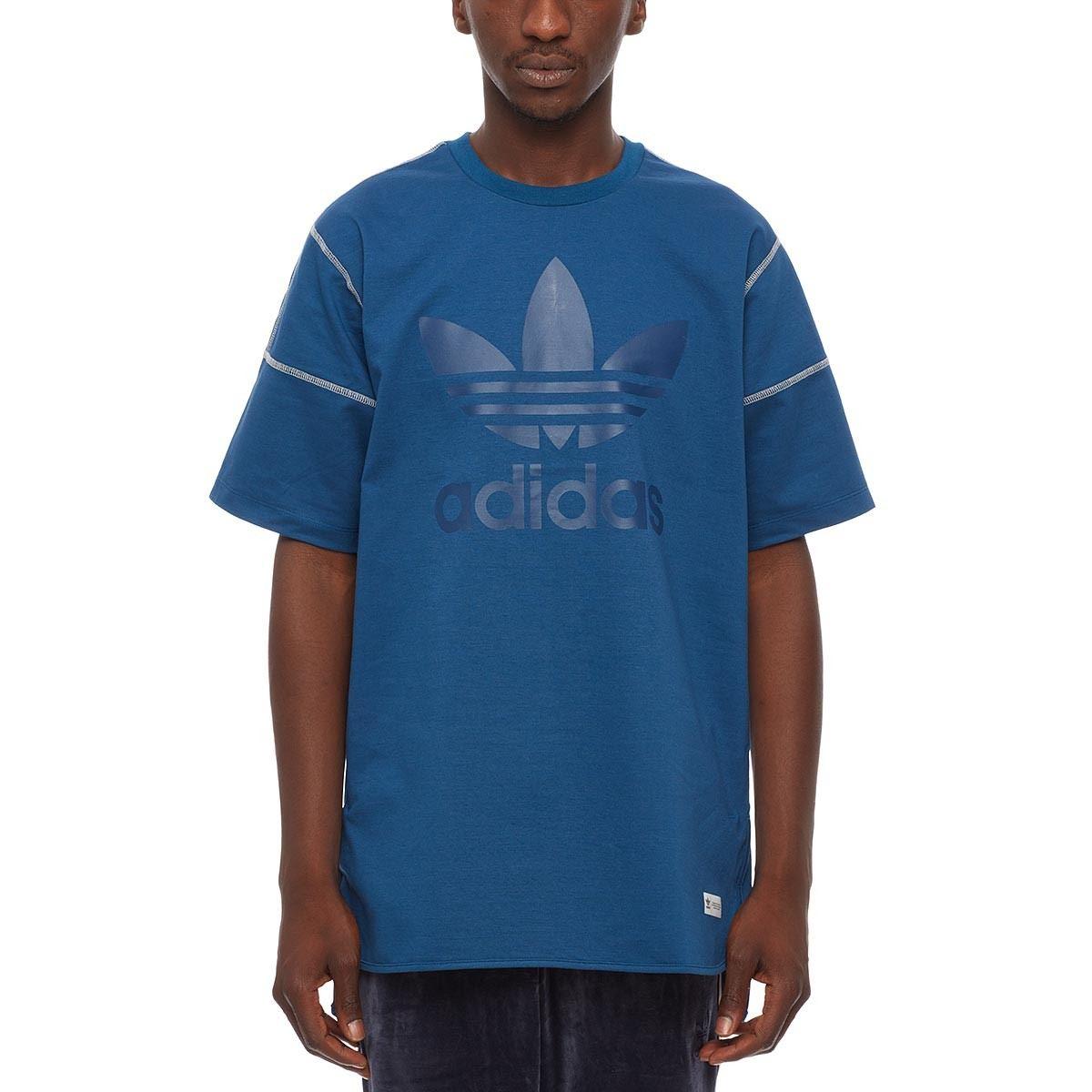 Adidas ORIGINALS FREIZEIT T SHIRT bleu TREFOIL XS S M L XL CREW NECK TOP  hommes 94dcfed7b8b2